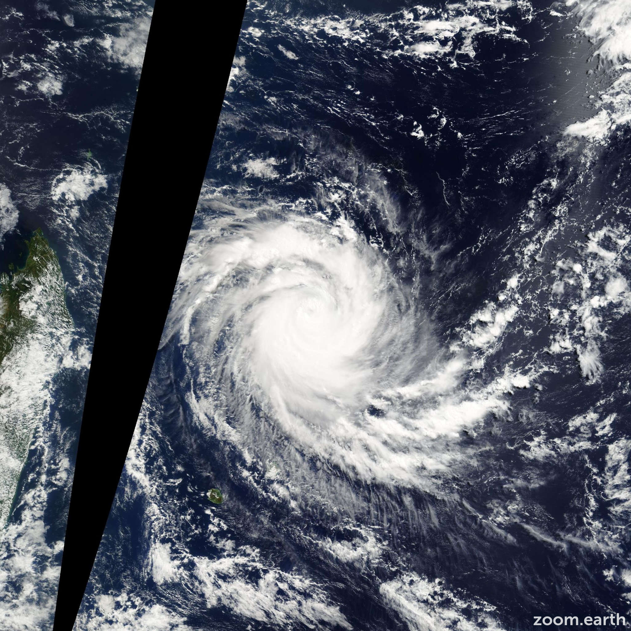 Satellite image of Cyclone Jaya 2007