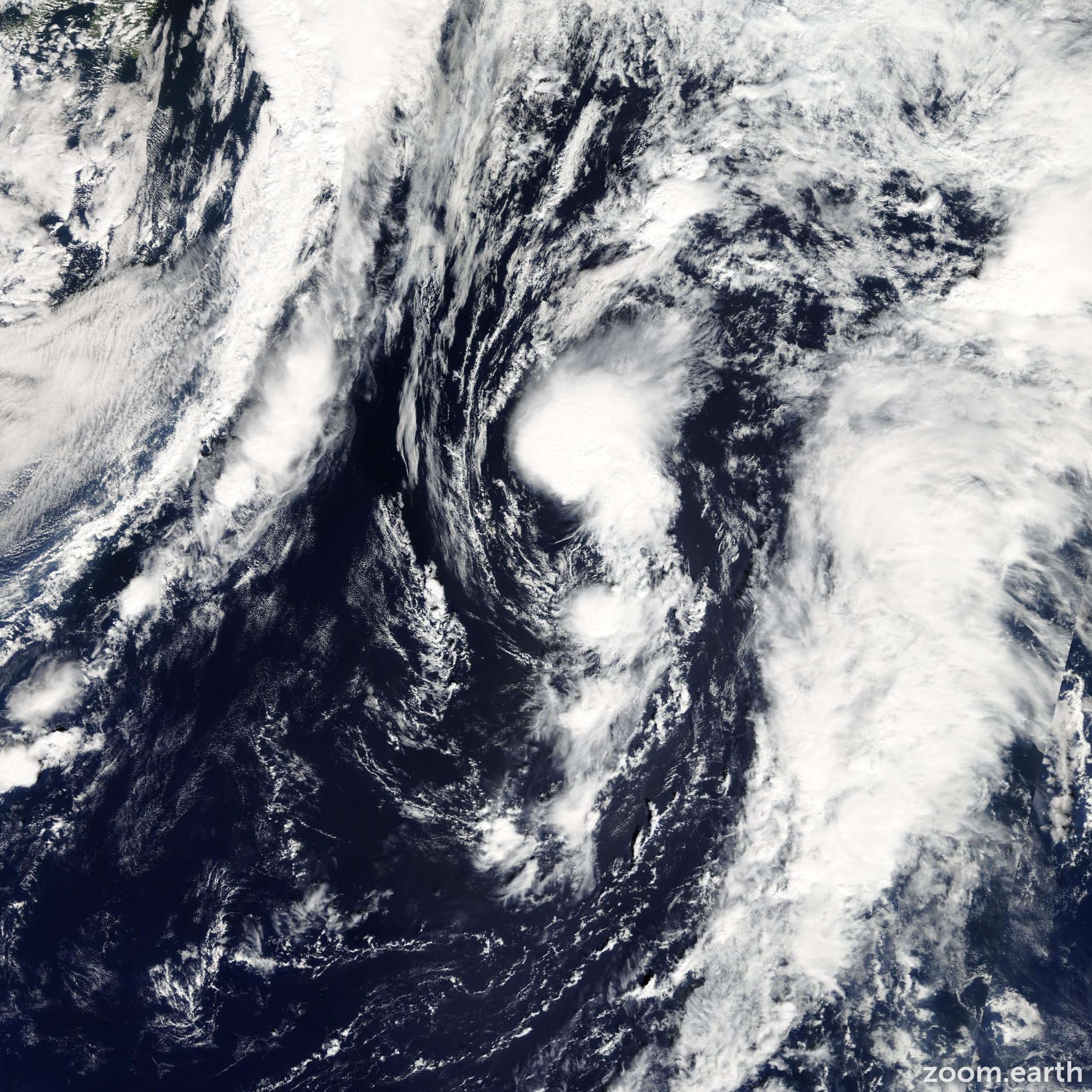 Satellite image of Storm Jerry 2007