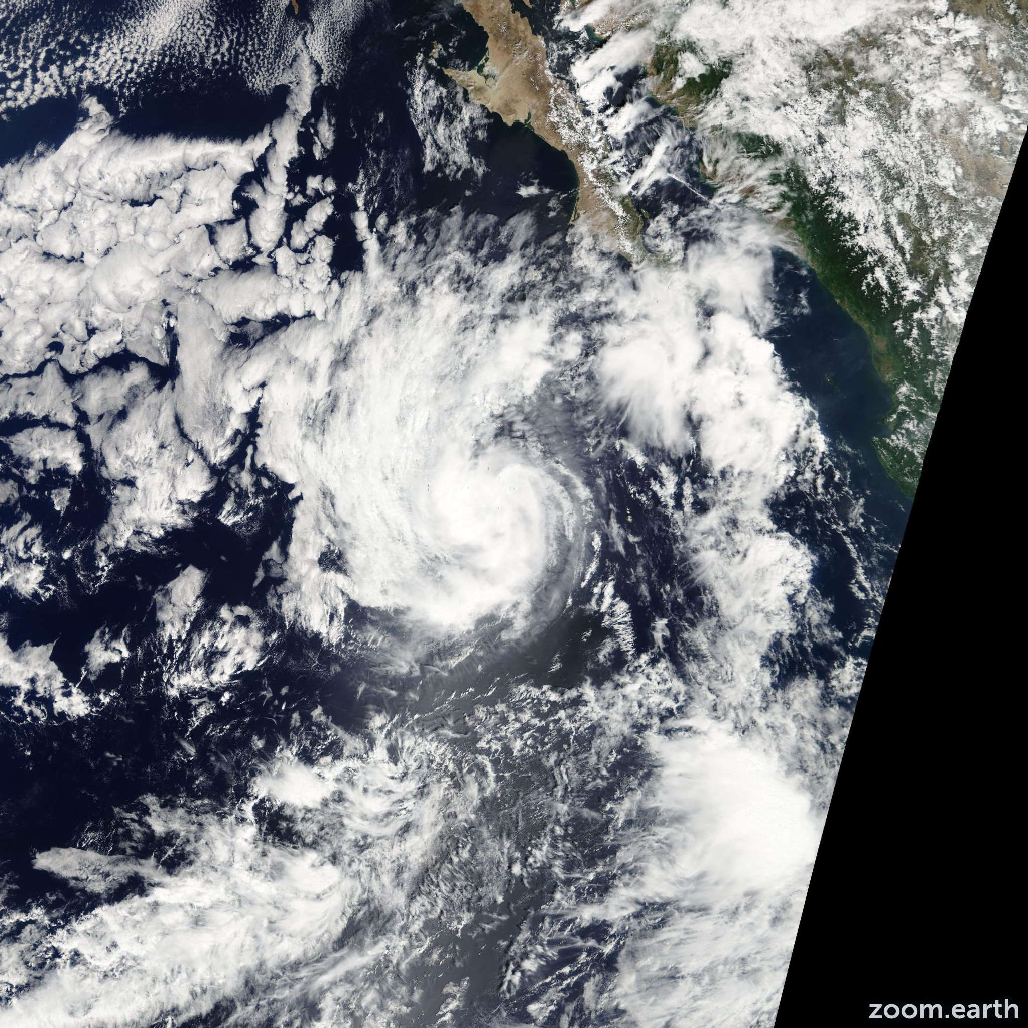 Satellite image of Storm Juliette 2007