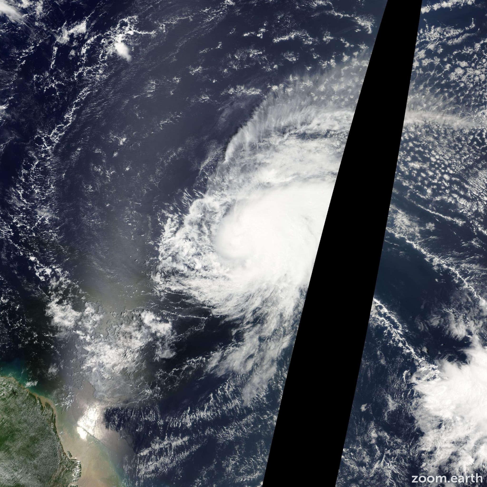 Satellite image of Hurricane Karen 2007