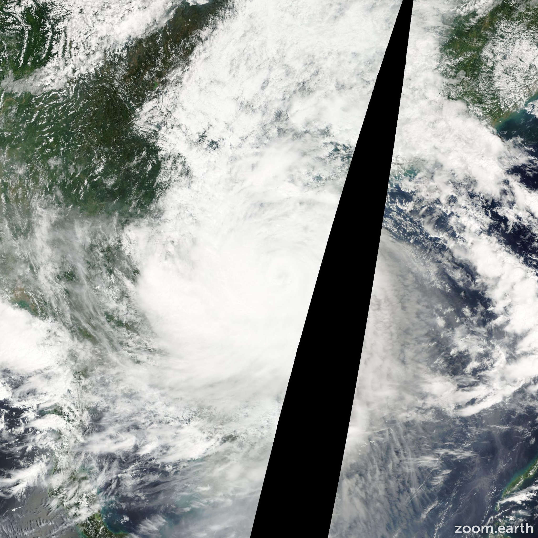 Satellite image of Storm Lekima 2007