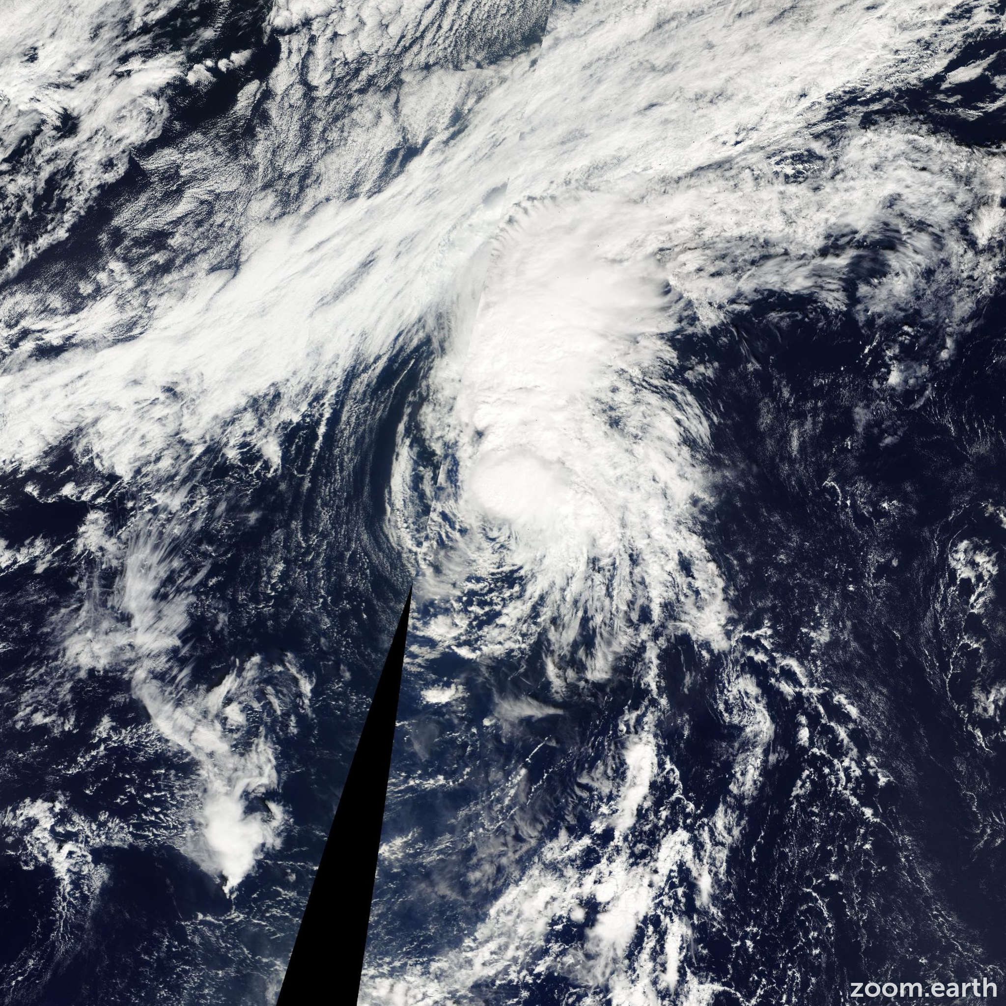 Satellite image of Storm Lingling 2007
