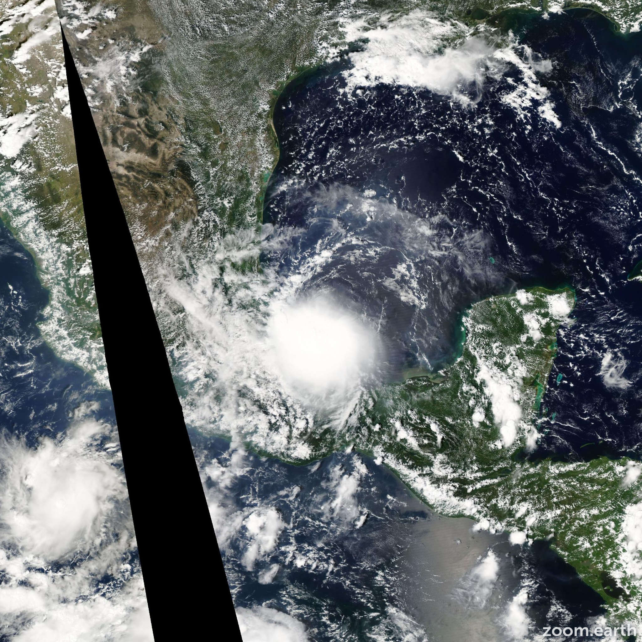 Satellite image of Hurricane Lorenzo 2007