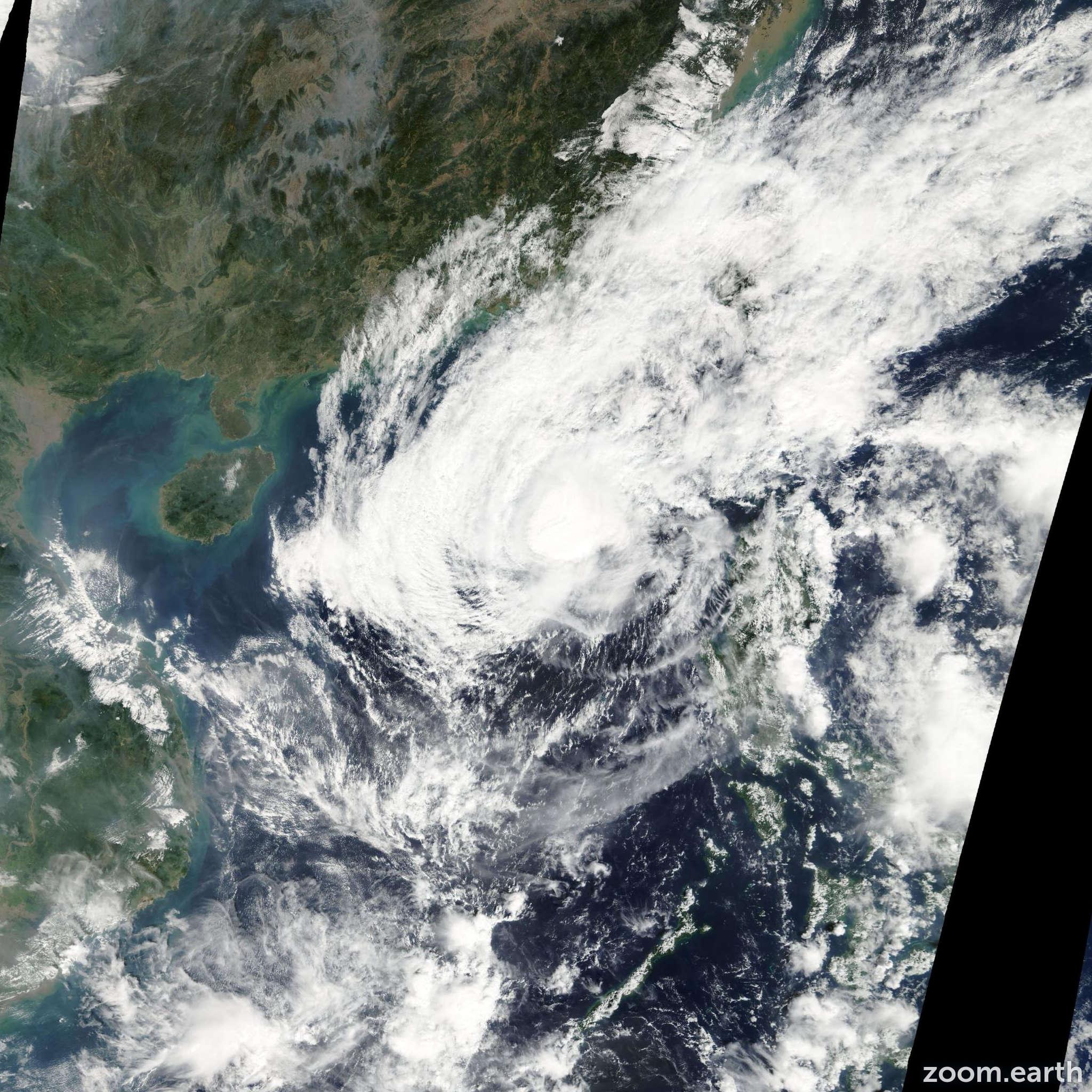 Satellite image of Typhoon Peipah 2007
