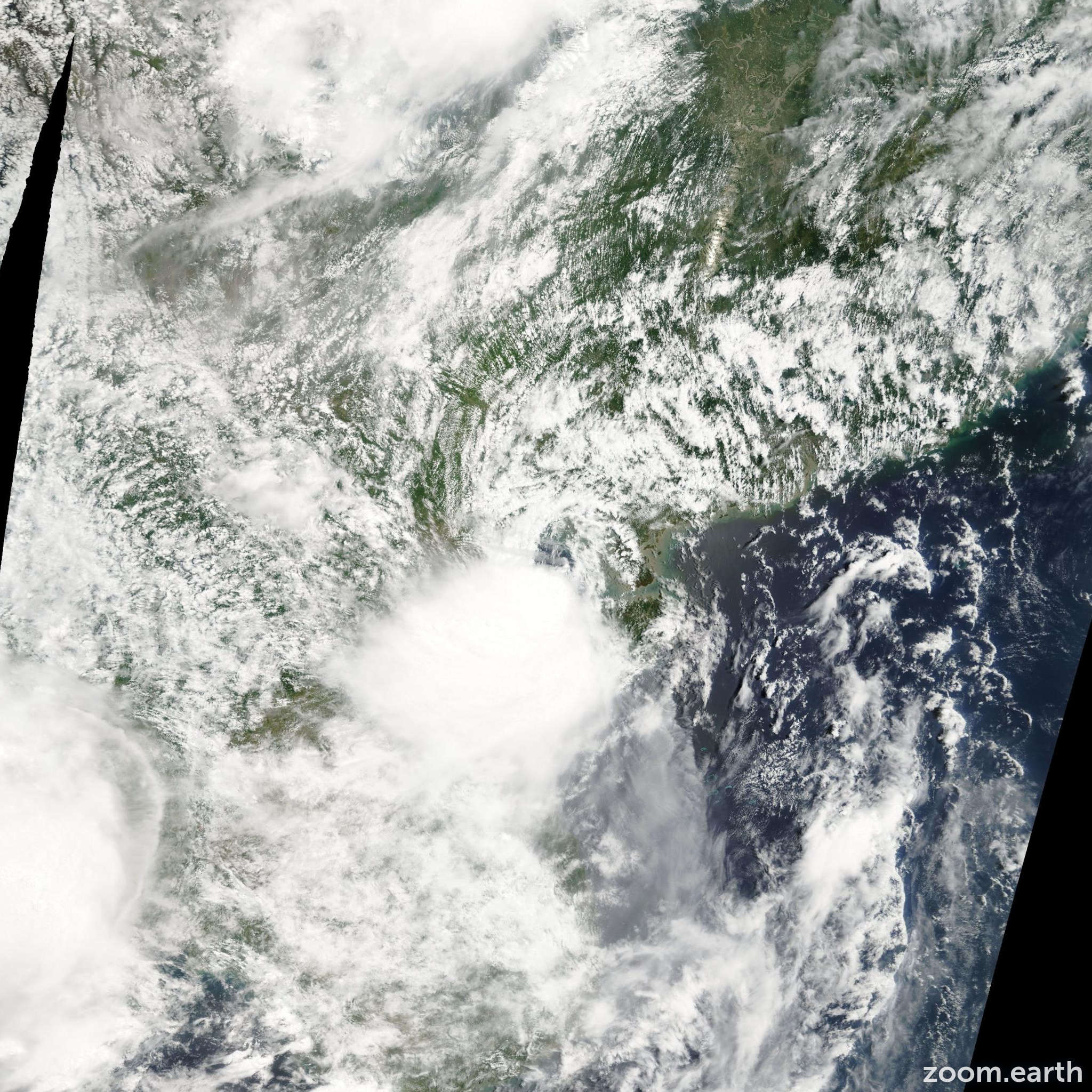 Satellite image of Storm Toraji 2007