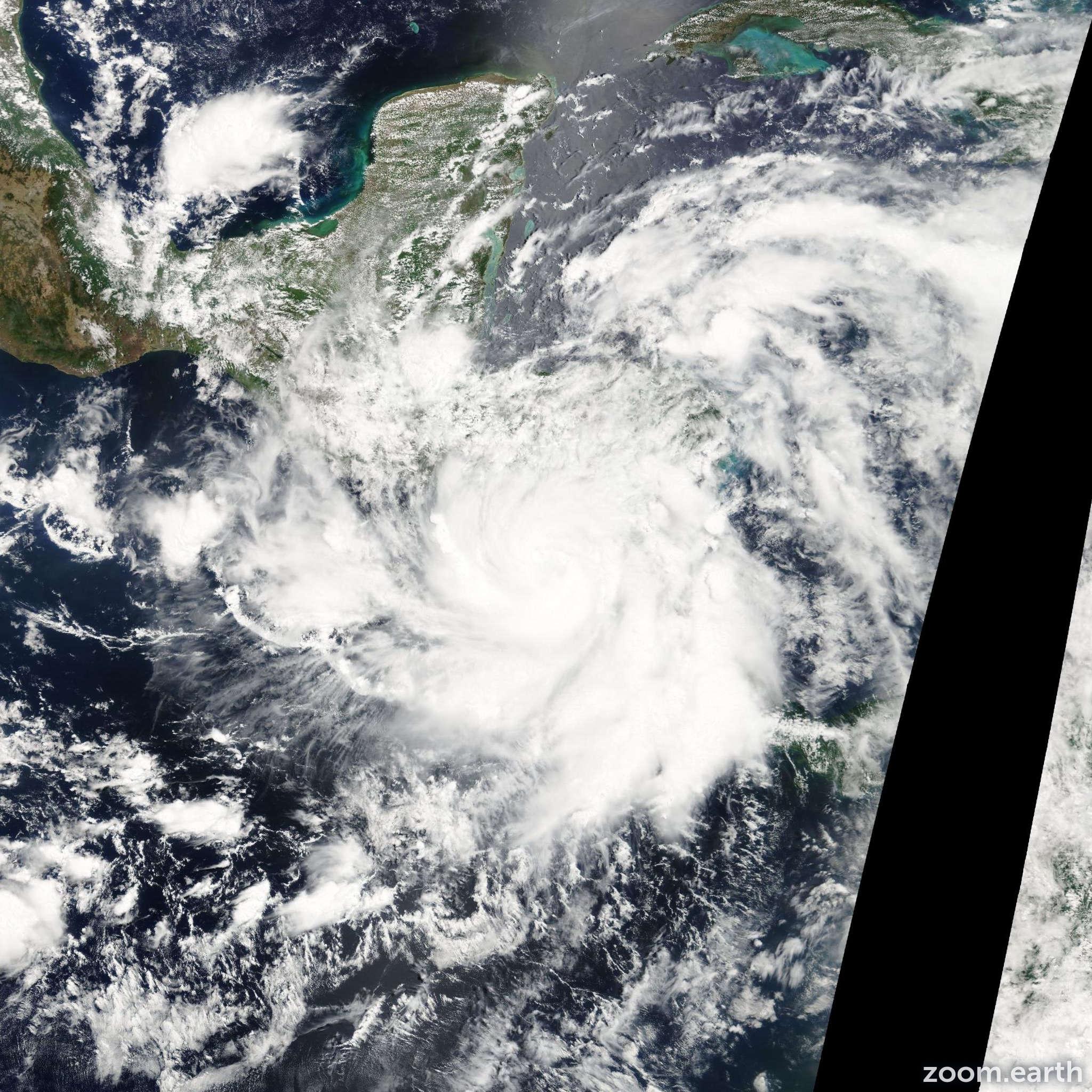 Satellite image of Storm Alma 2008