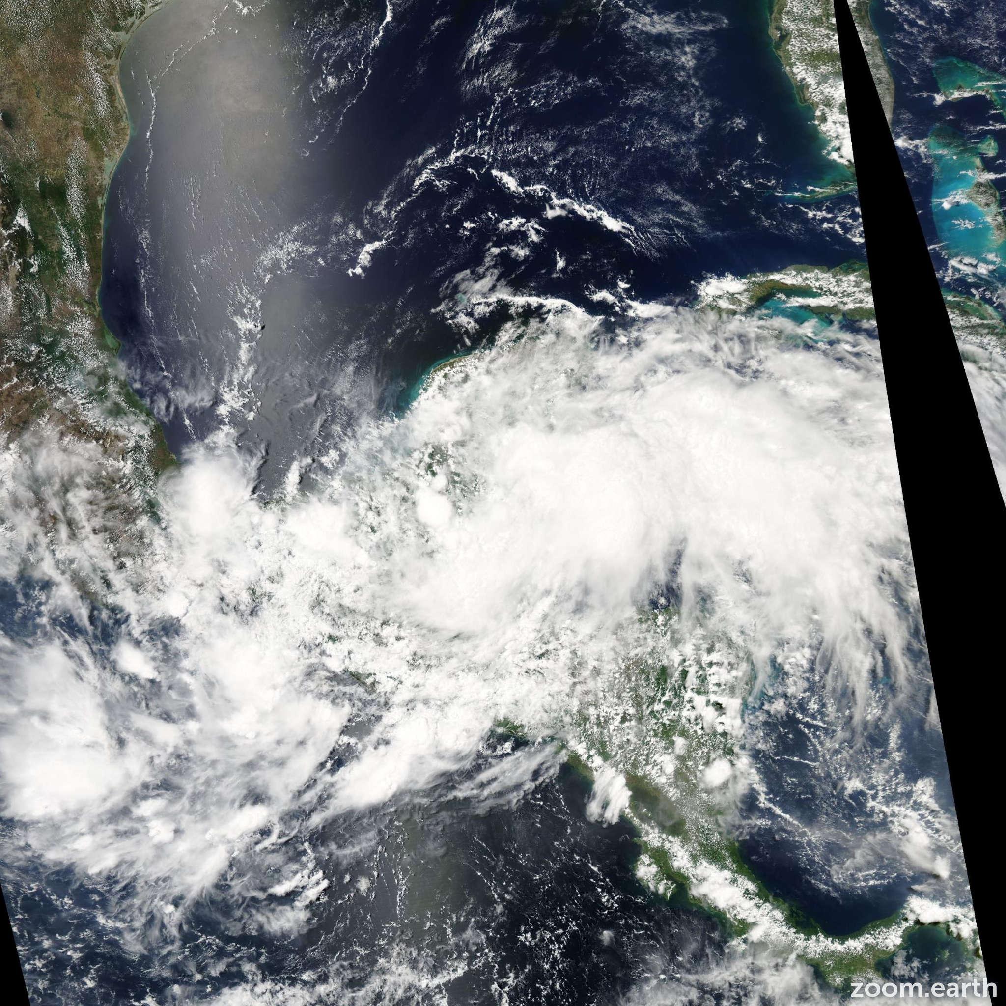 Satellite image of Storm Arthur 2008