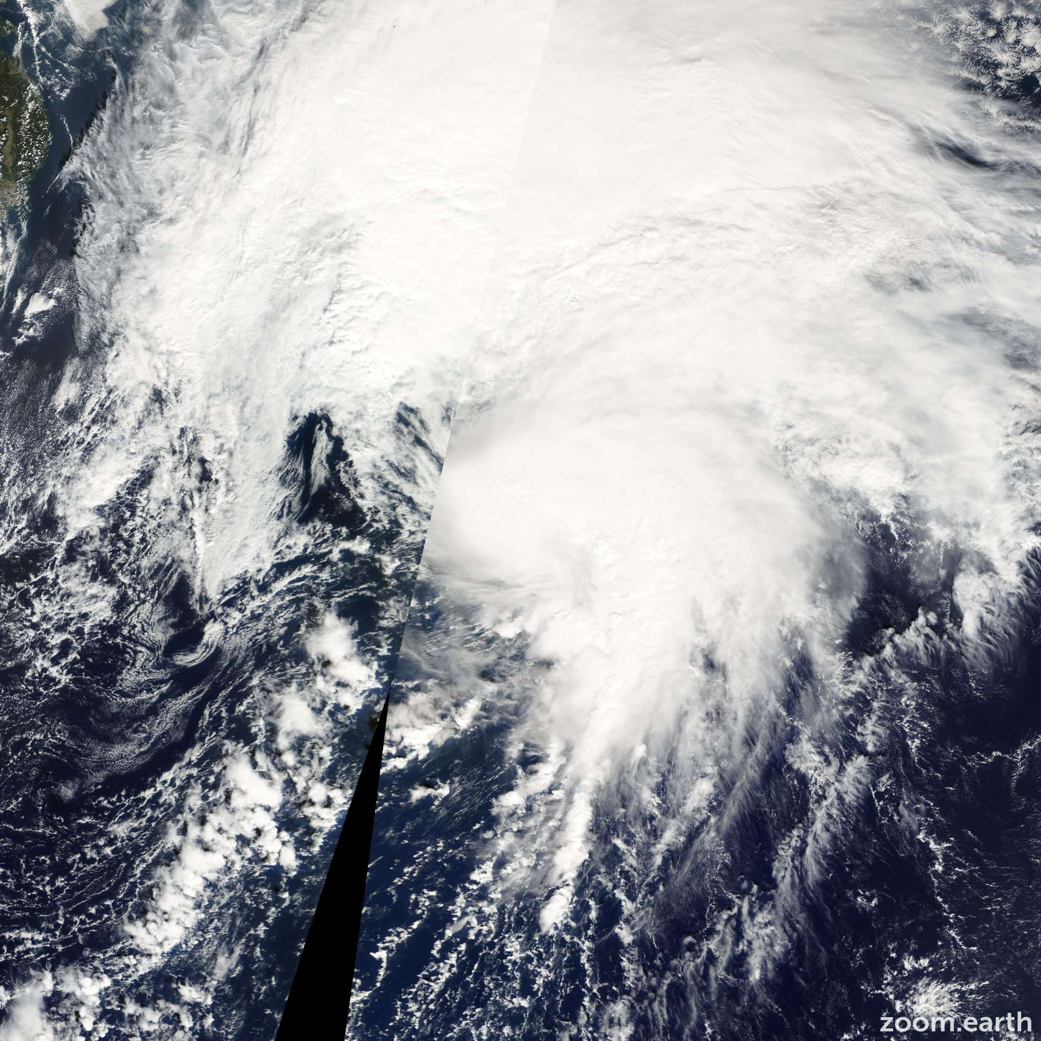 Satellite image of Storm Bavi 2008