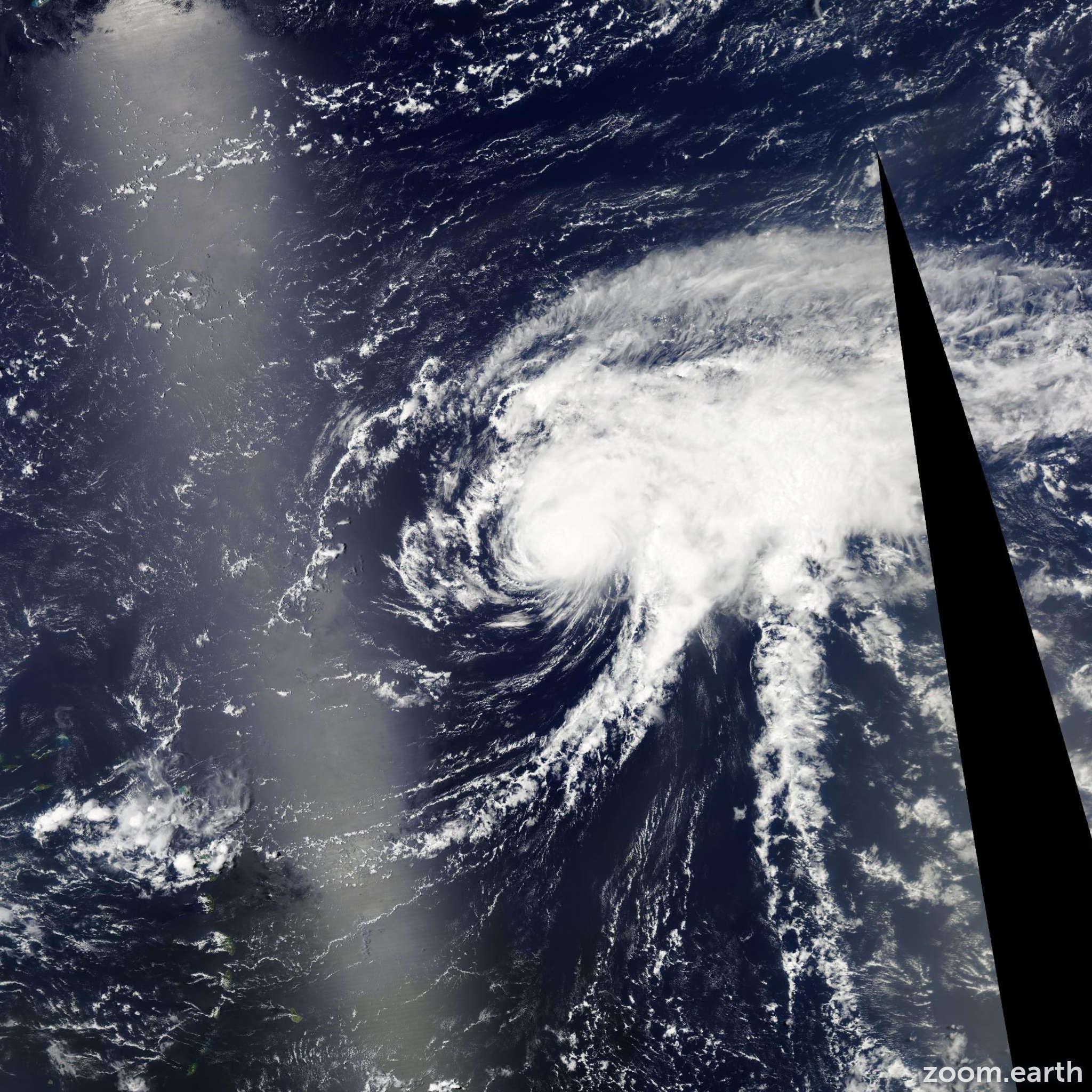 Satellite image of Hurricane Bertha 2008