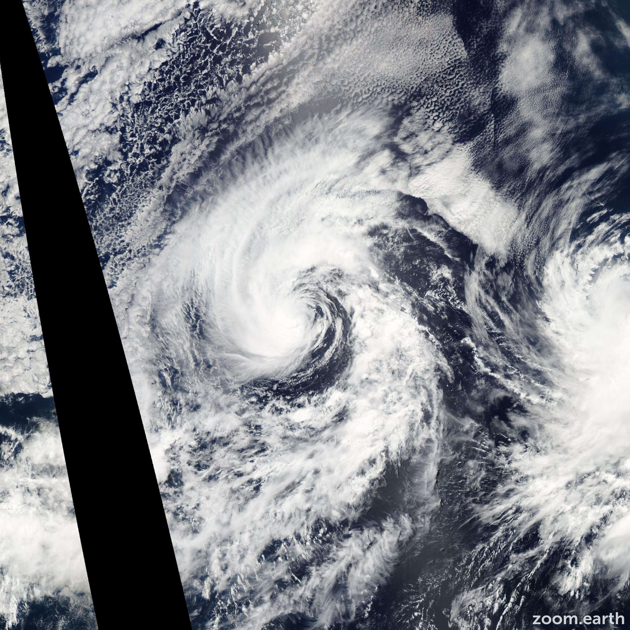 Satellite image of Storm Cristina 2008