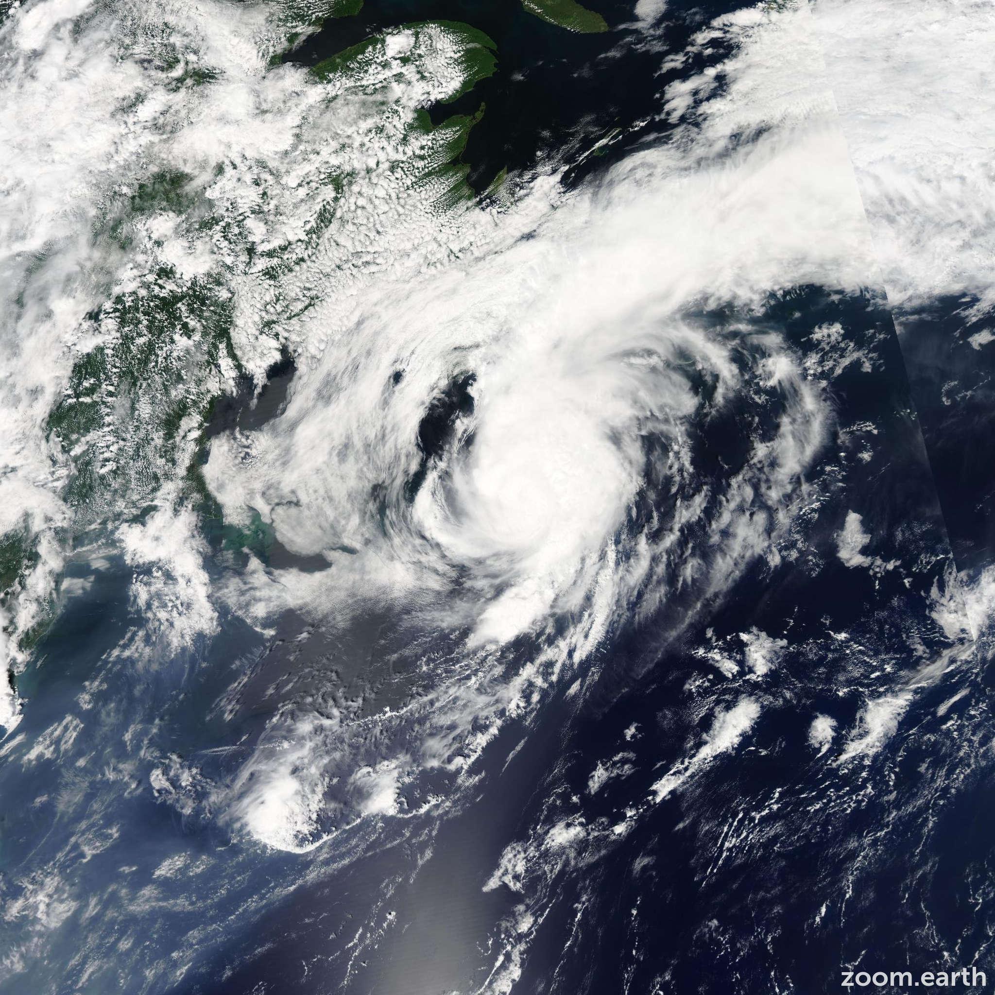 Satellite image of Storm Cristobal 2008