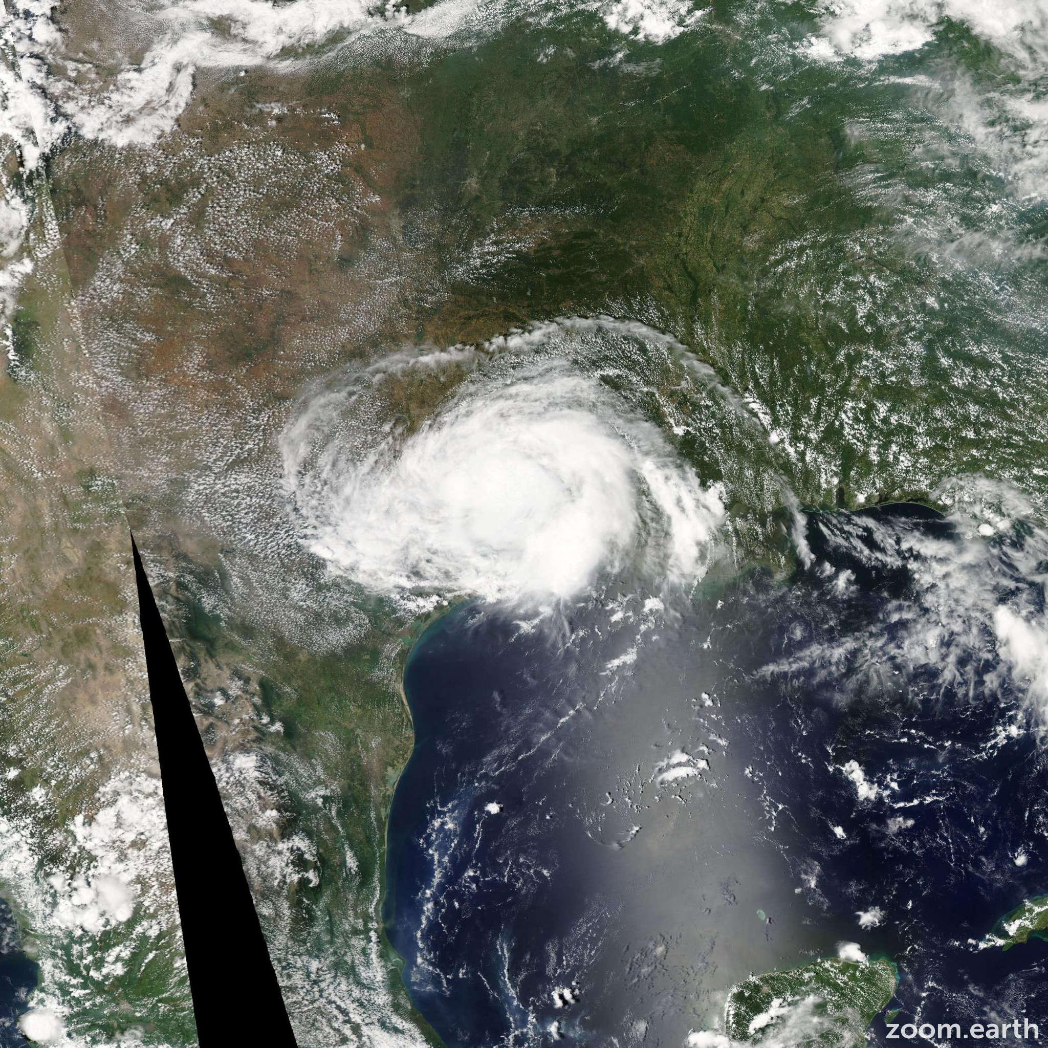 Satellite image of Storm Edouard 2008