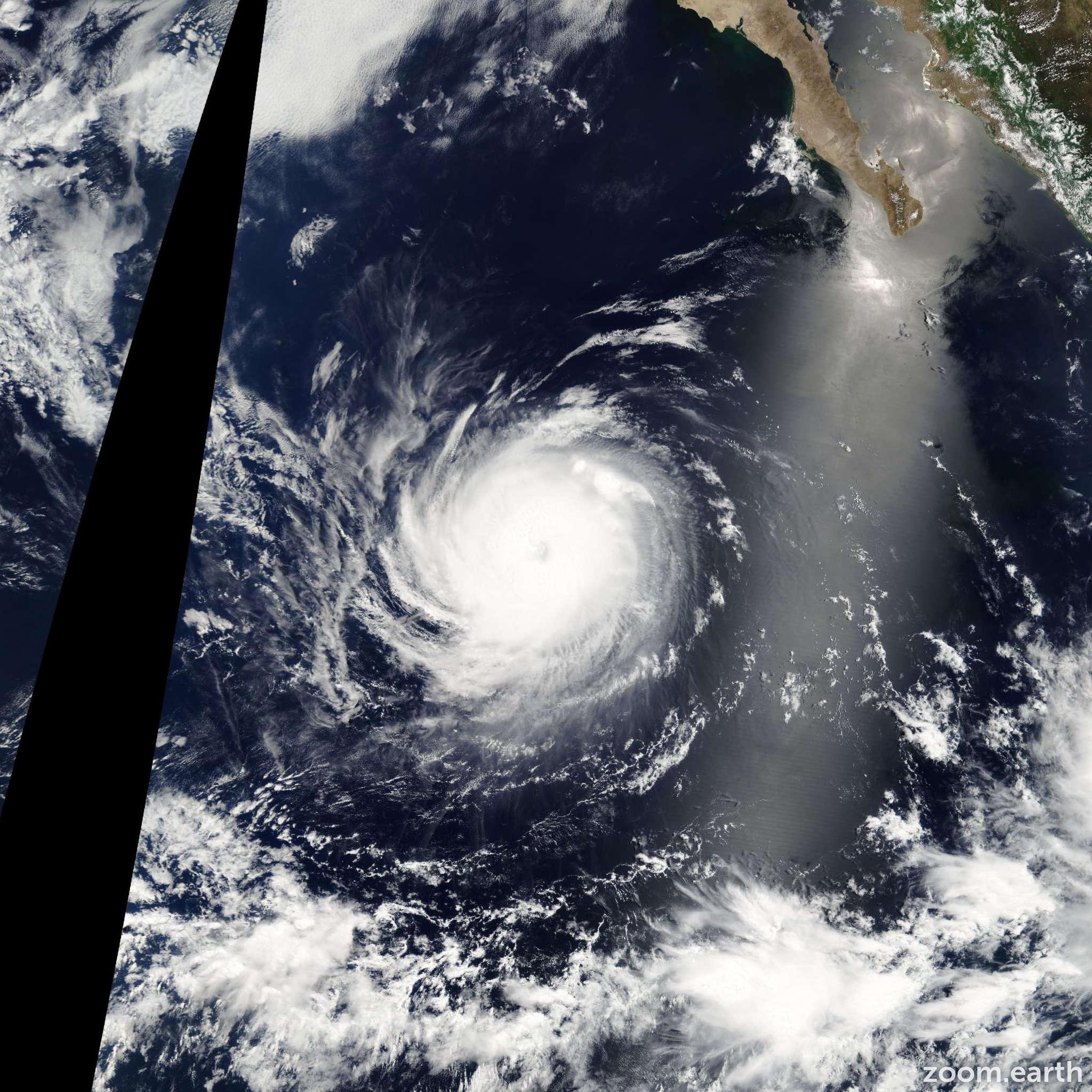 Satellite image of Hurricane Elida 2008