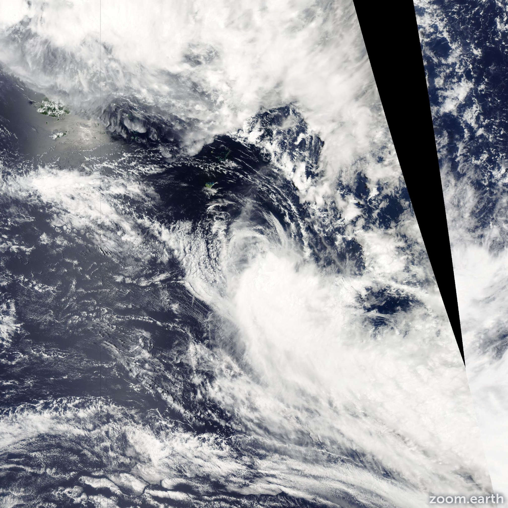 Satellite image of Cyclone Elisa 2008