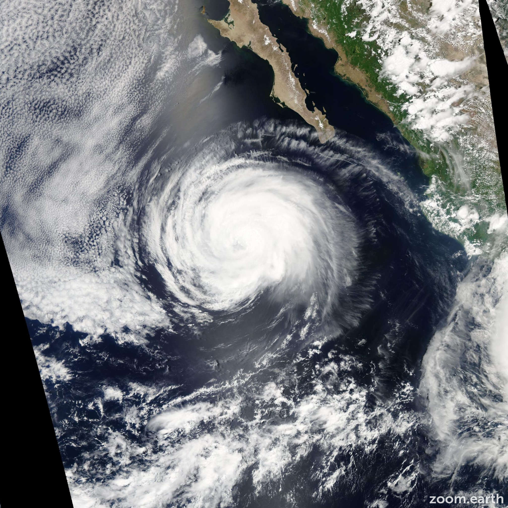 Satellite image of Hurricane Fausto 2008