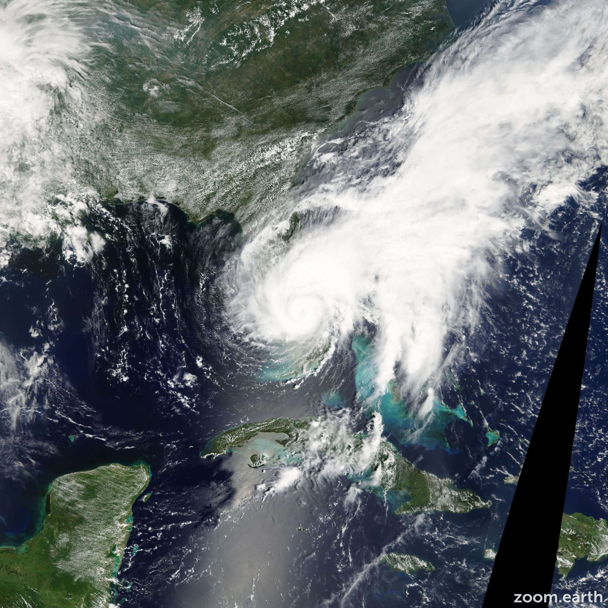 Satellite image of Storm Fay 2008