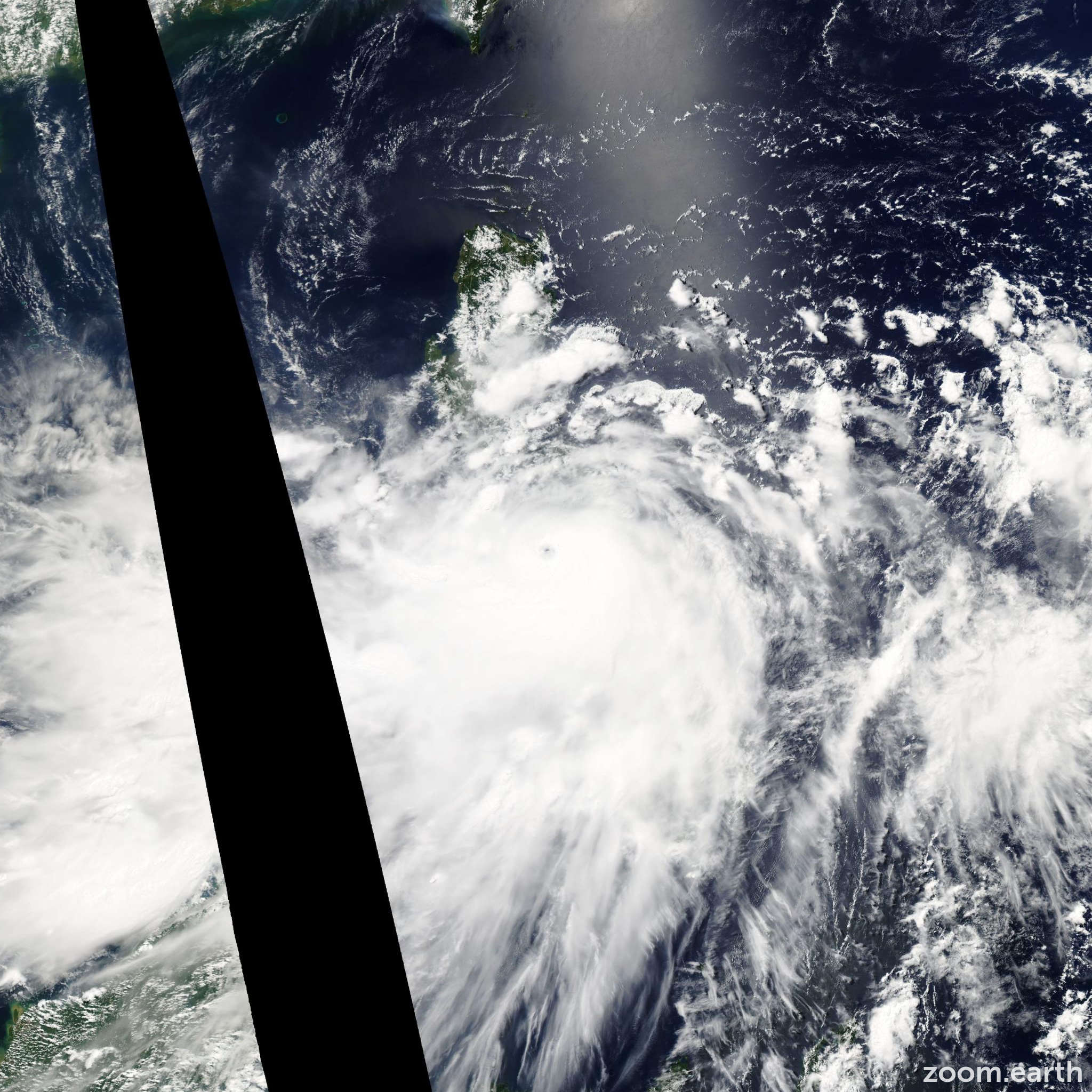 Satellite image of Typhoon Fengshen 2008