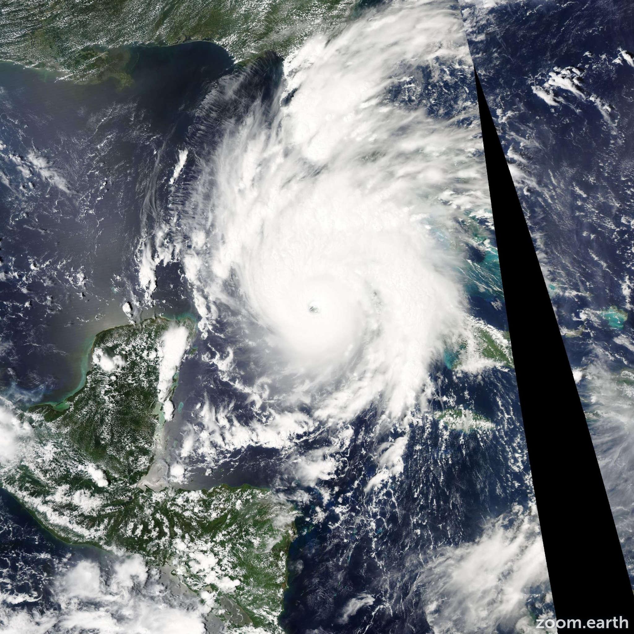 Satellite image of Hurricane Gustav 2008
