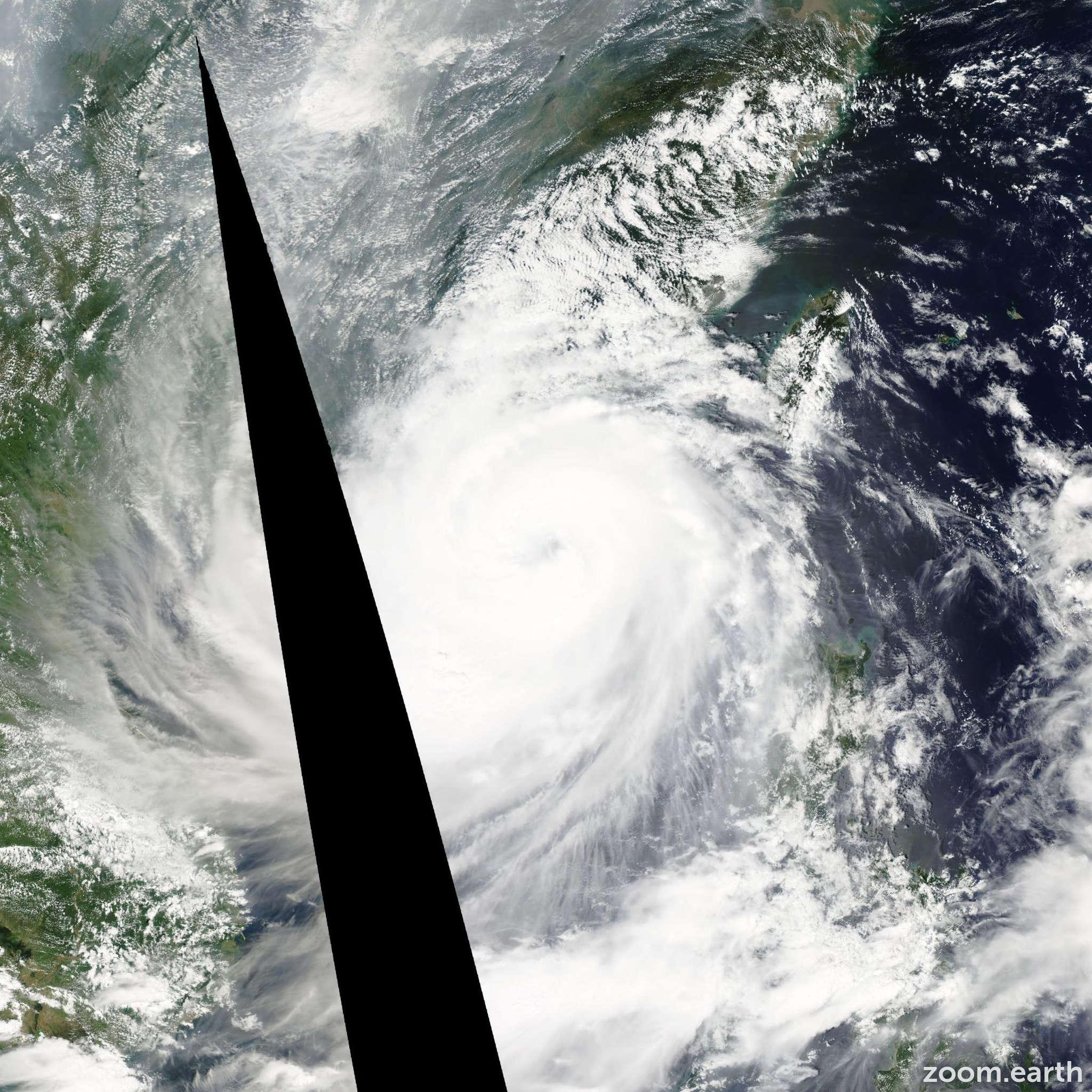 Satellite image of Typhoon Hagupit 2008