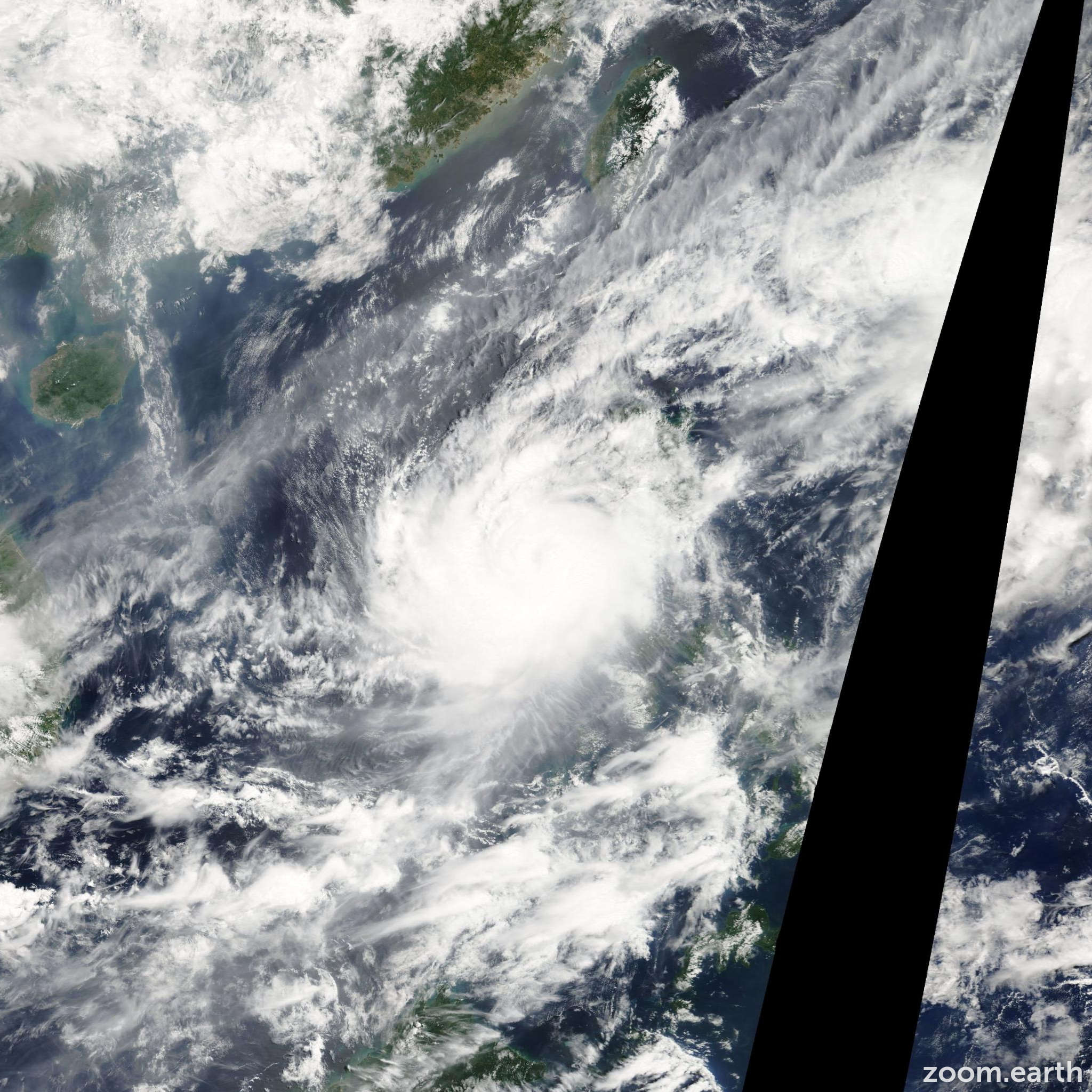 Satellite image of Typhoon Halong 2008