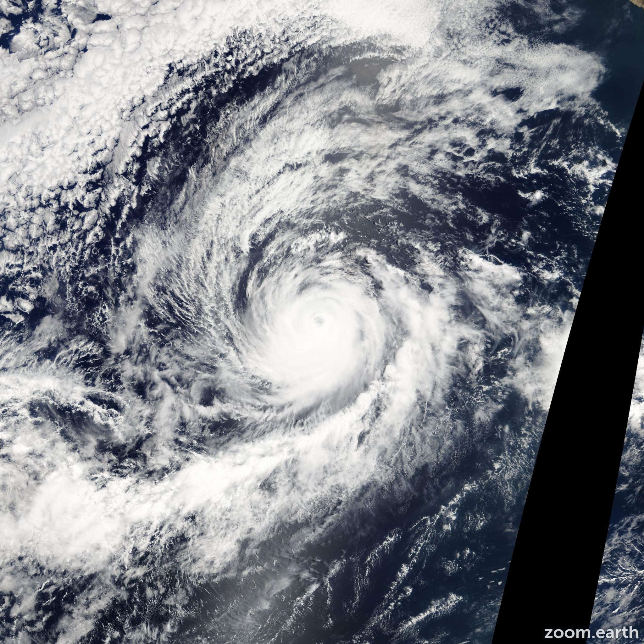 Satellite image of Hurricane Hernan 2008