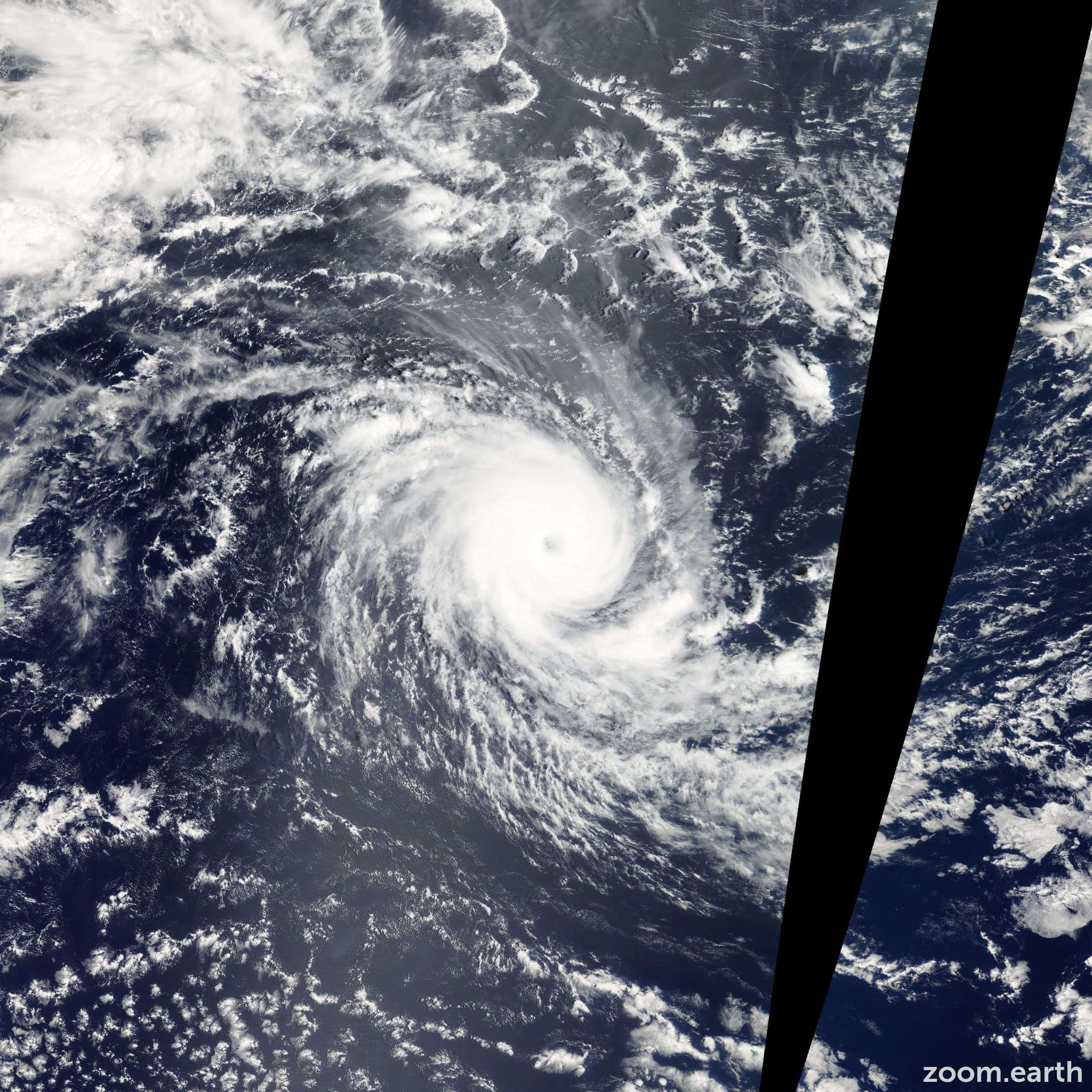Satellite image of Cyclone Hondo 2008