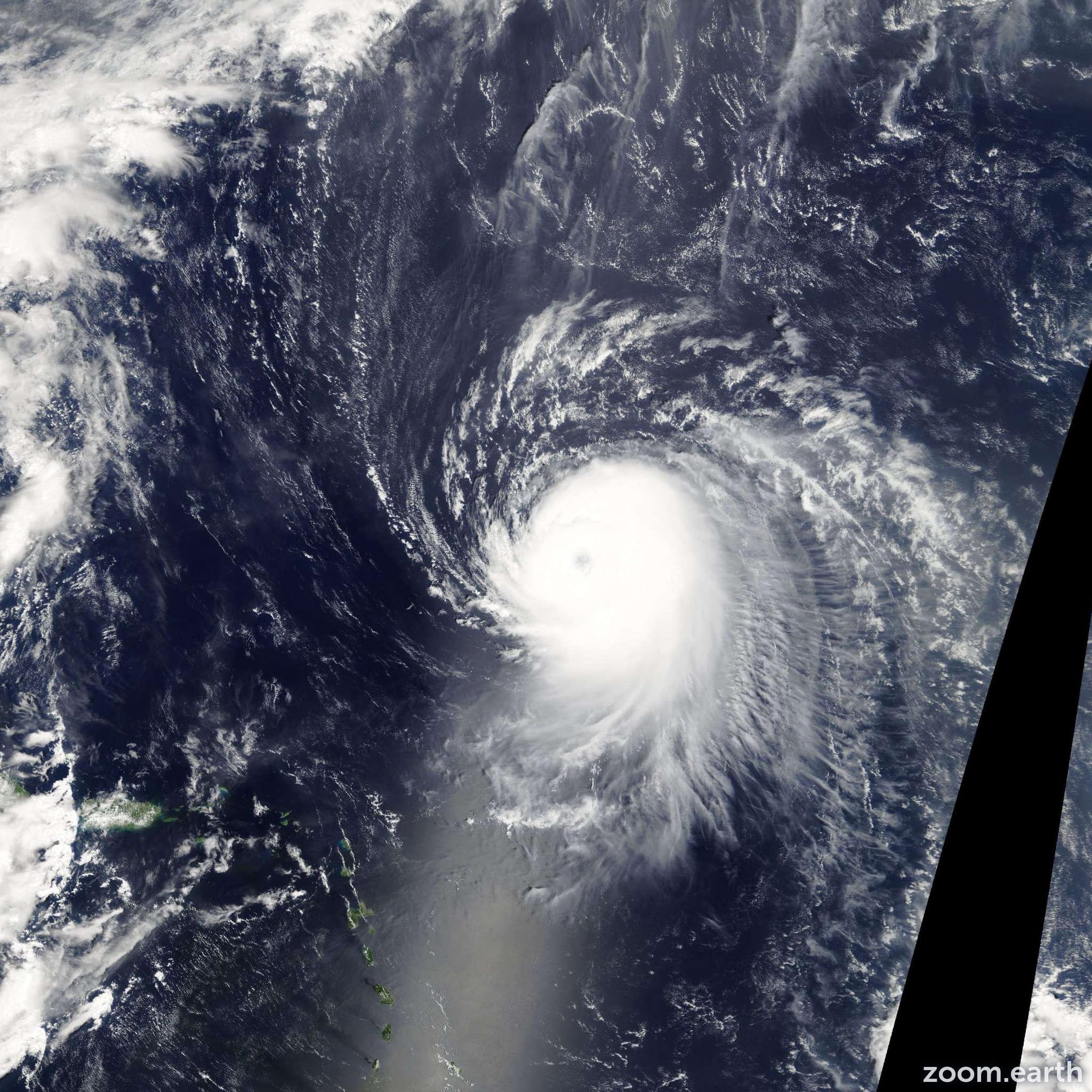 Satellite image of Hurricane Ike 2008
