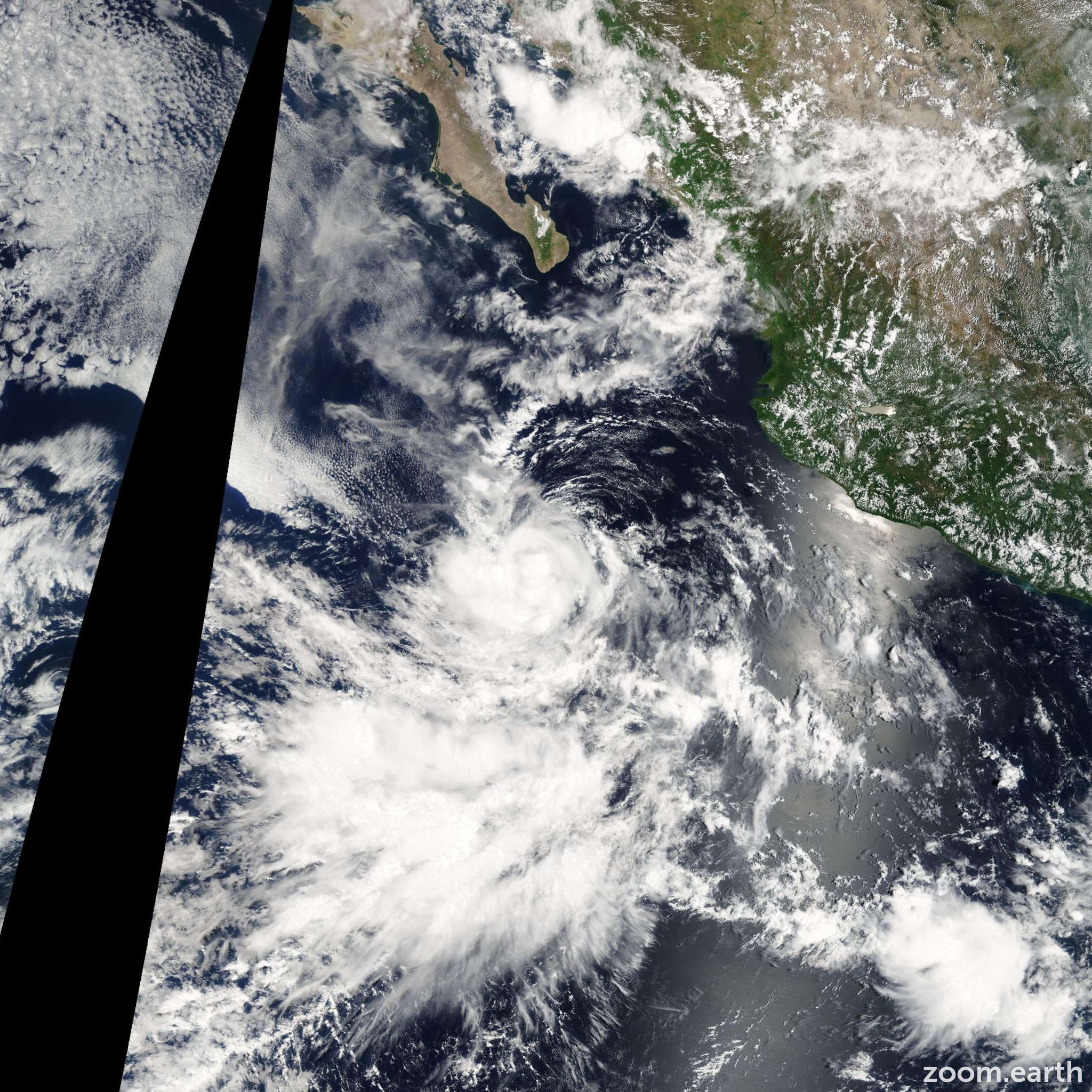 Satellite image of Storm Iselle 2008