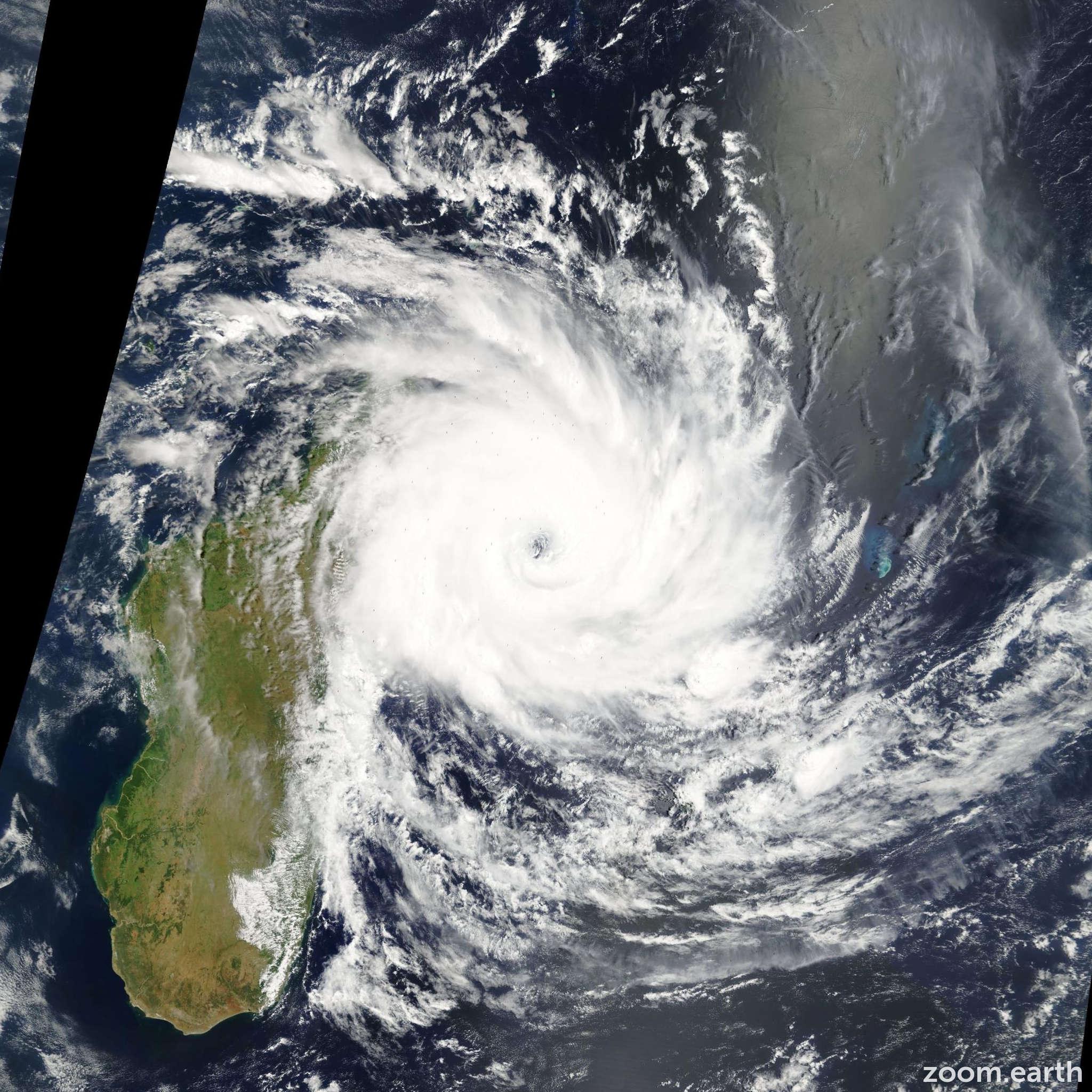 Satellite image of Cyclone Ivan 2008