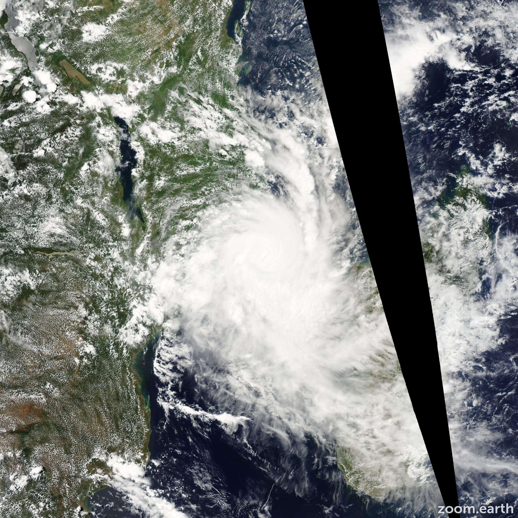 Satellite image of Cyclone Jokwe 2008