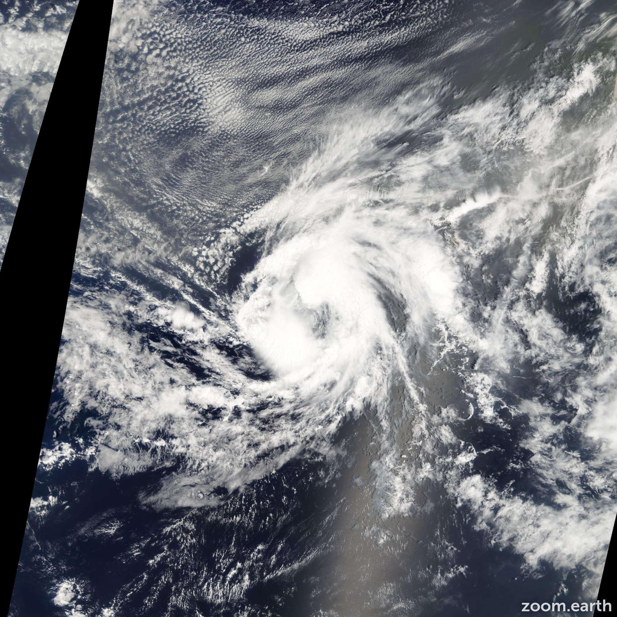 Satellite image of Storm Josephine 2008