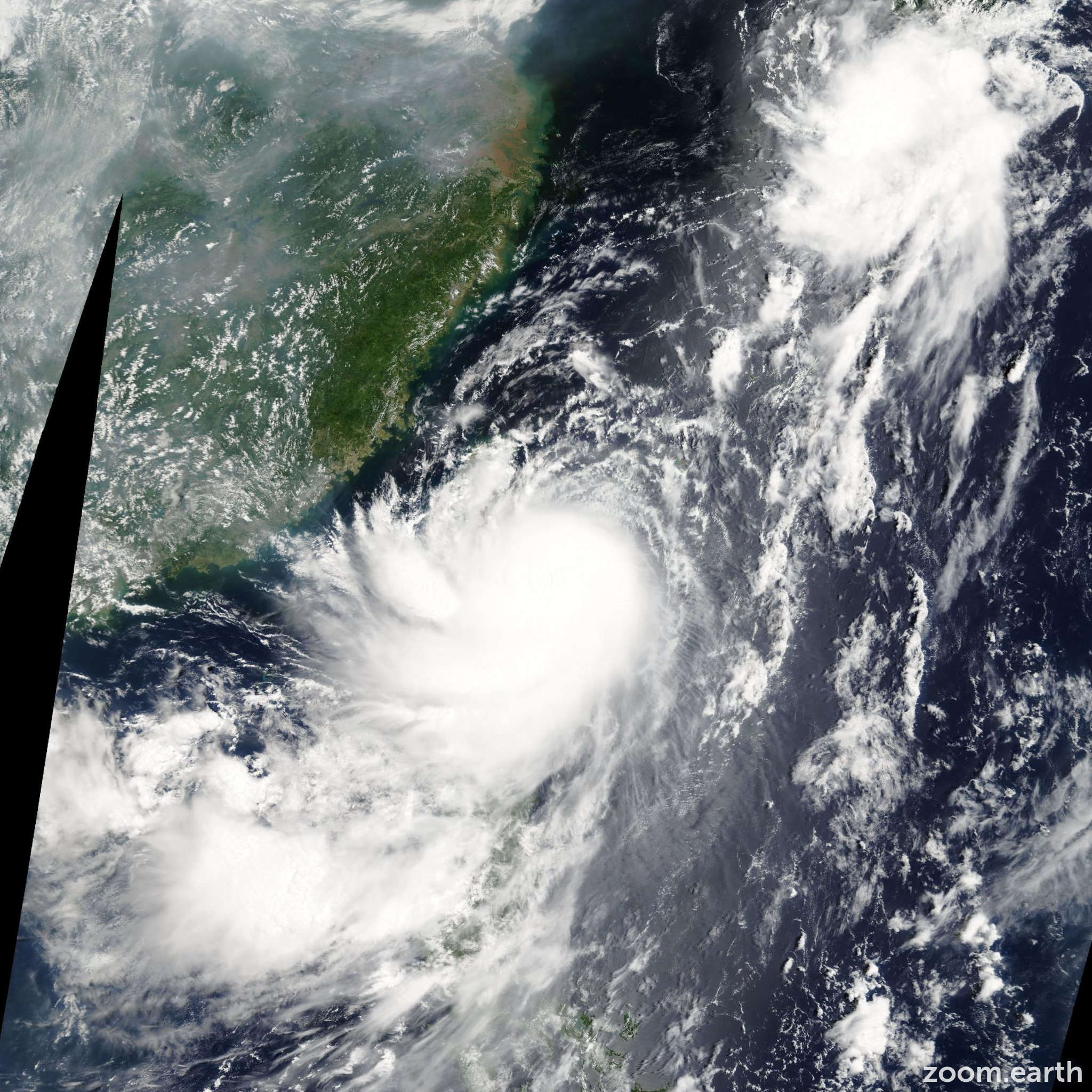 Satellite image of Typhoon Kalmaegi 2008