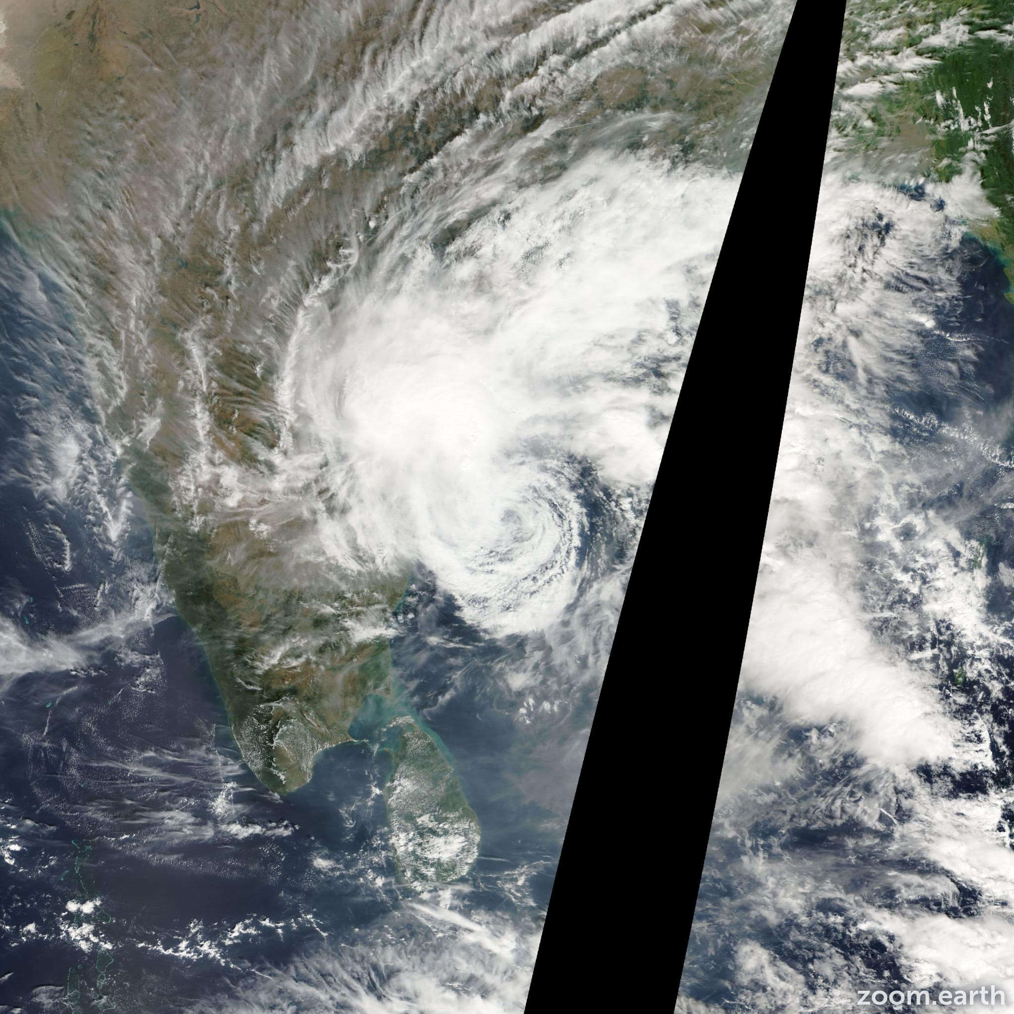 Satellite image of Cyclone Khai-Muk 2008