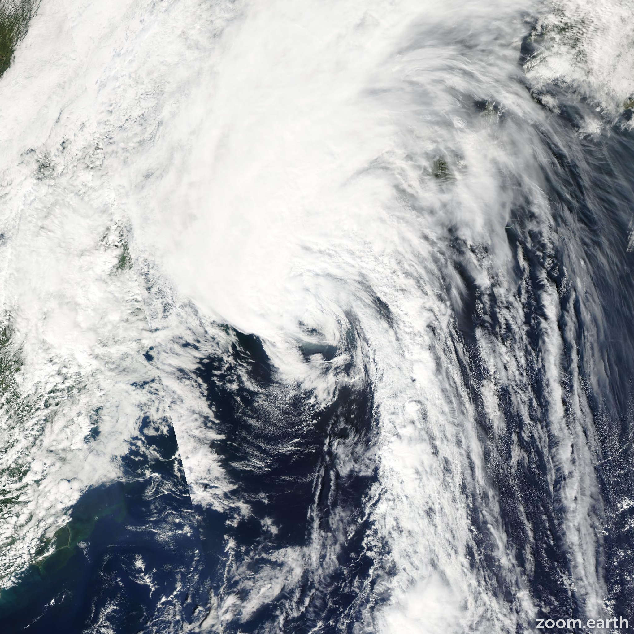 Satellite image of Hurricane Kyle 2008