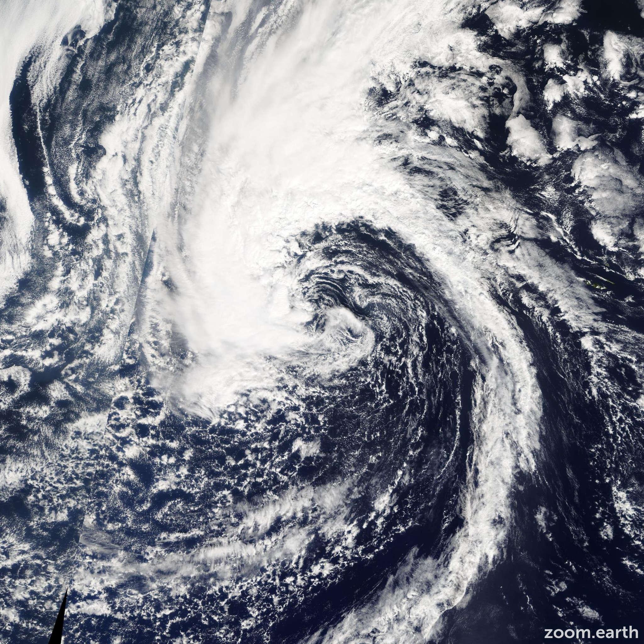 Satellite image of Storm Laura 2008
