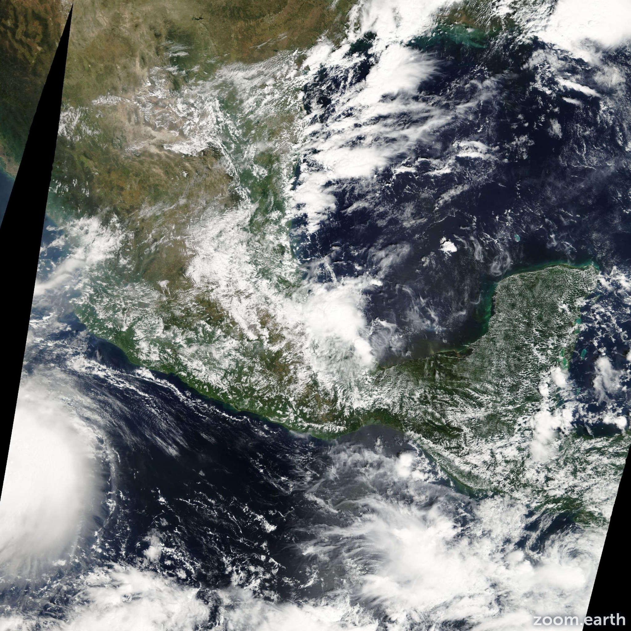 Satellite image of Storm Marco 2008