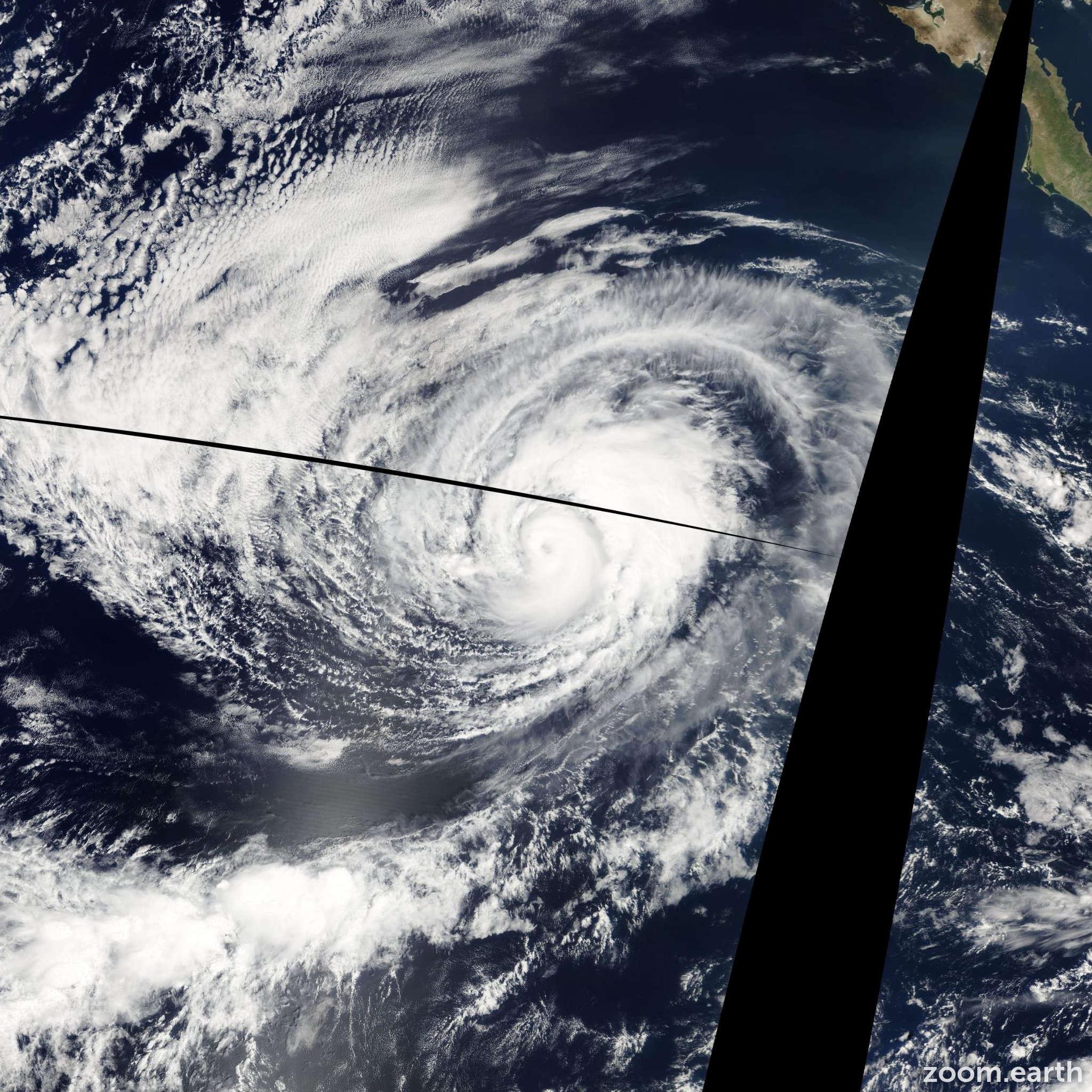 Satellite image of Hurricane Marie 2008