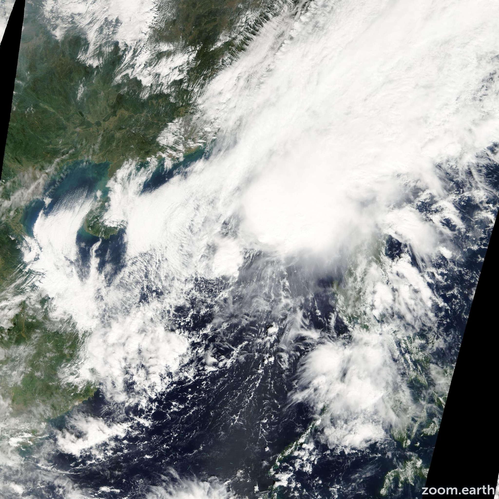 Satellite image of Storm Maysak 2008