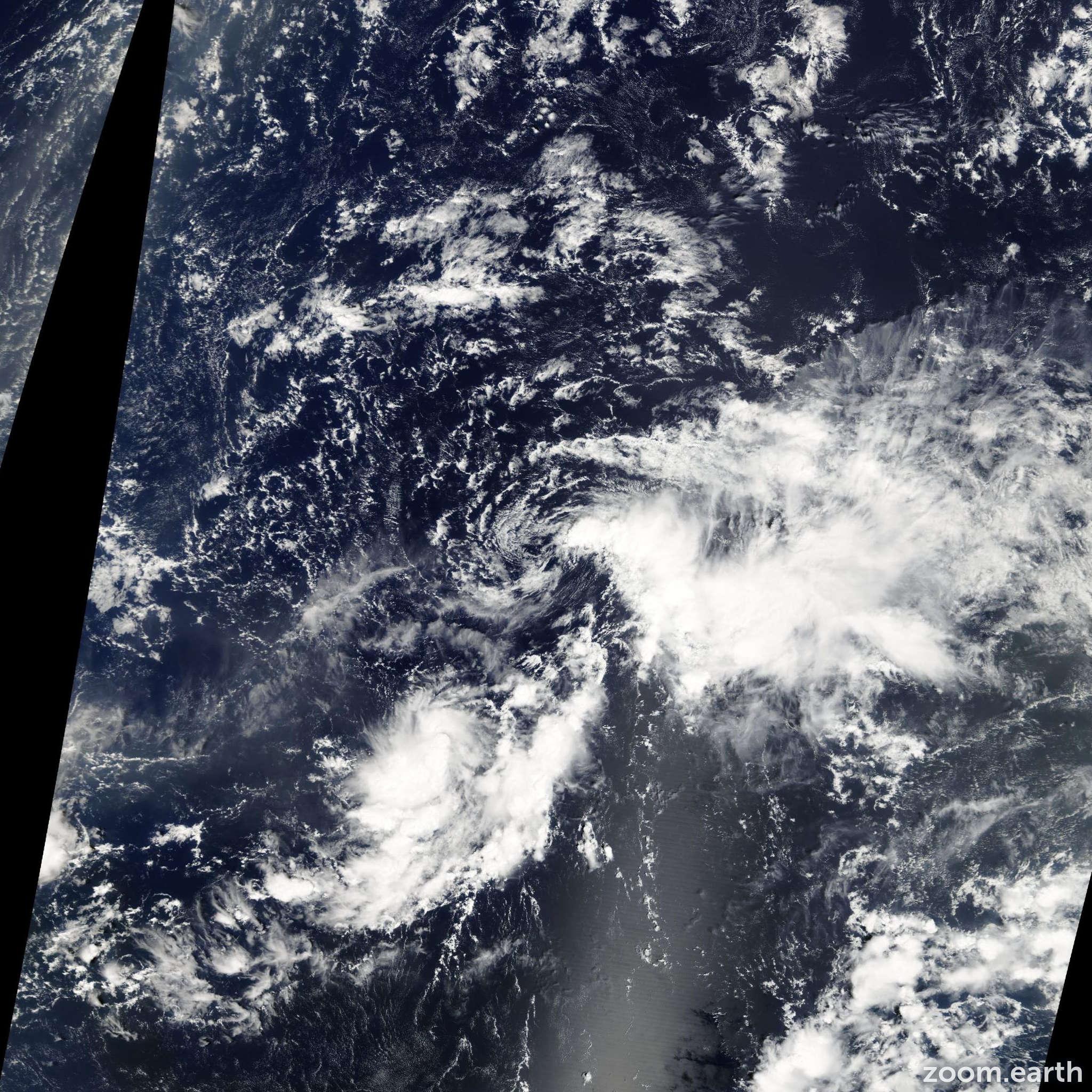 Satellite image of Storm Nana 2008