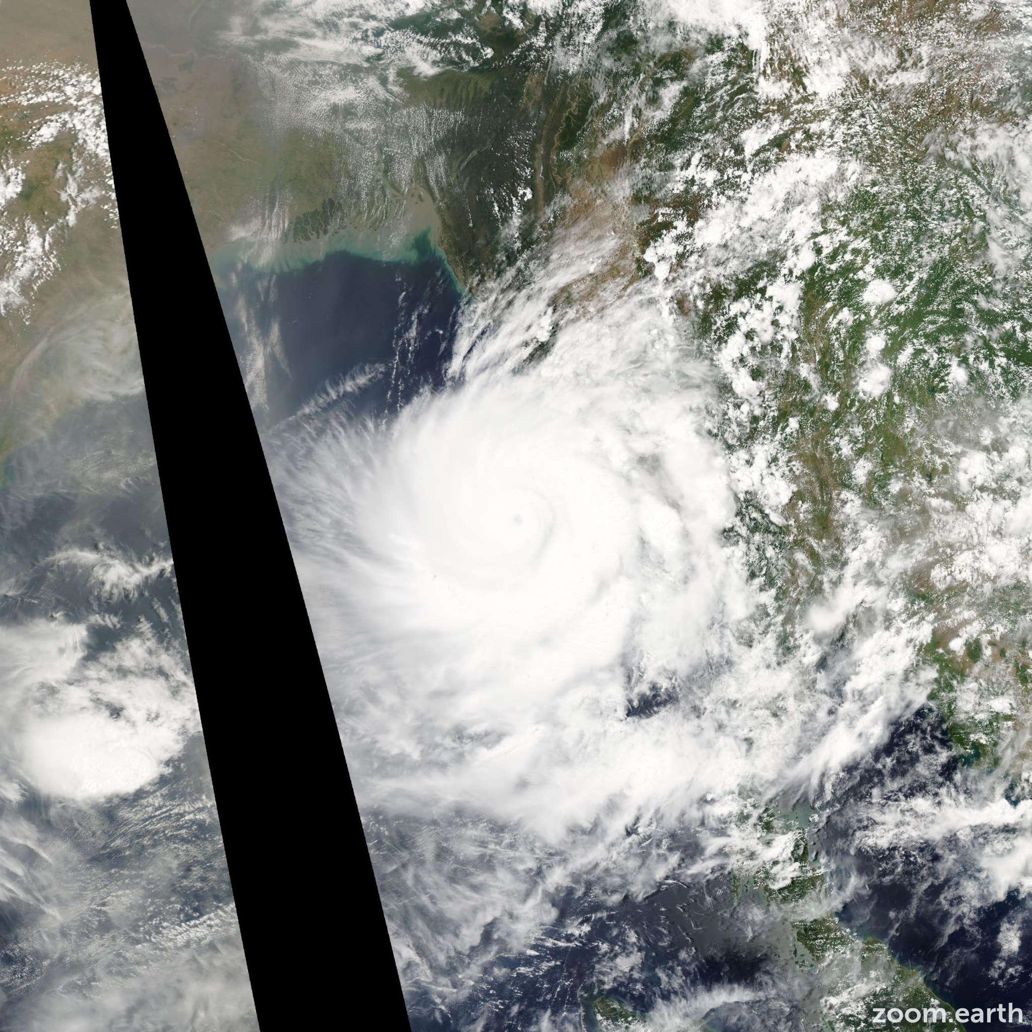 Satellite image of Cyclone Nargis 2008