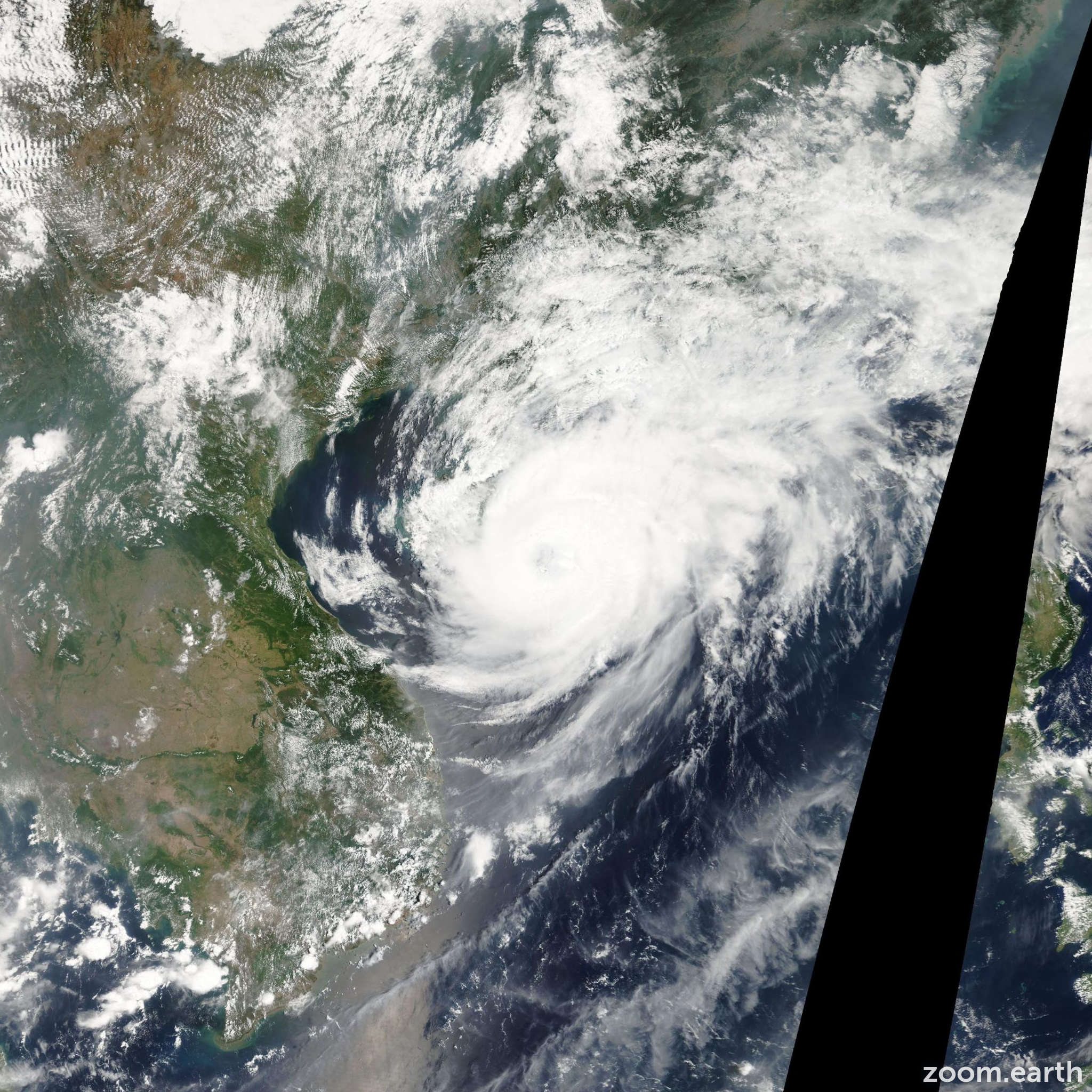 Satellite image of Typhoon Neoguri 2008