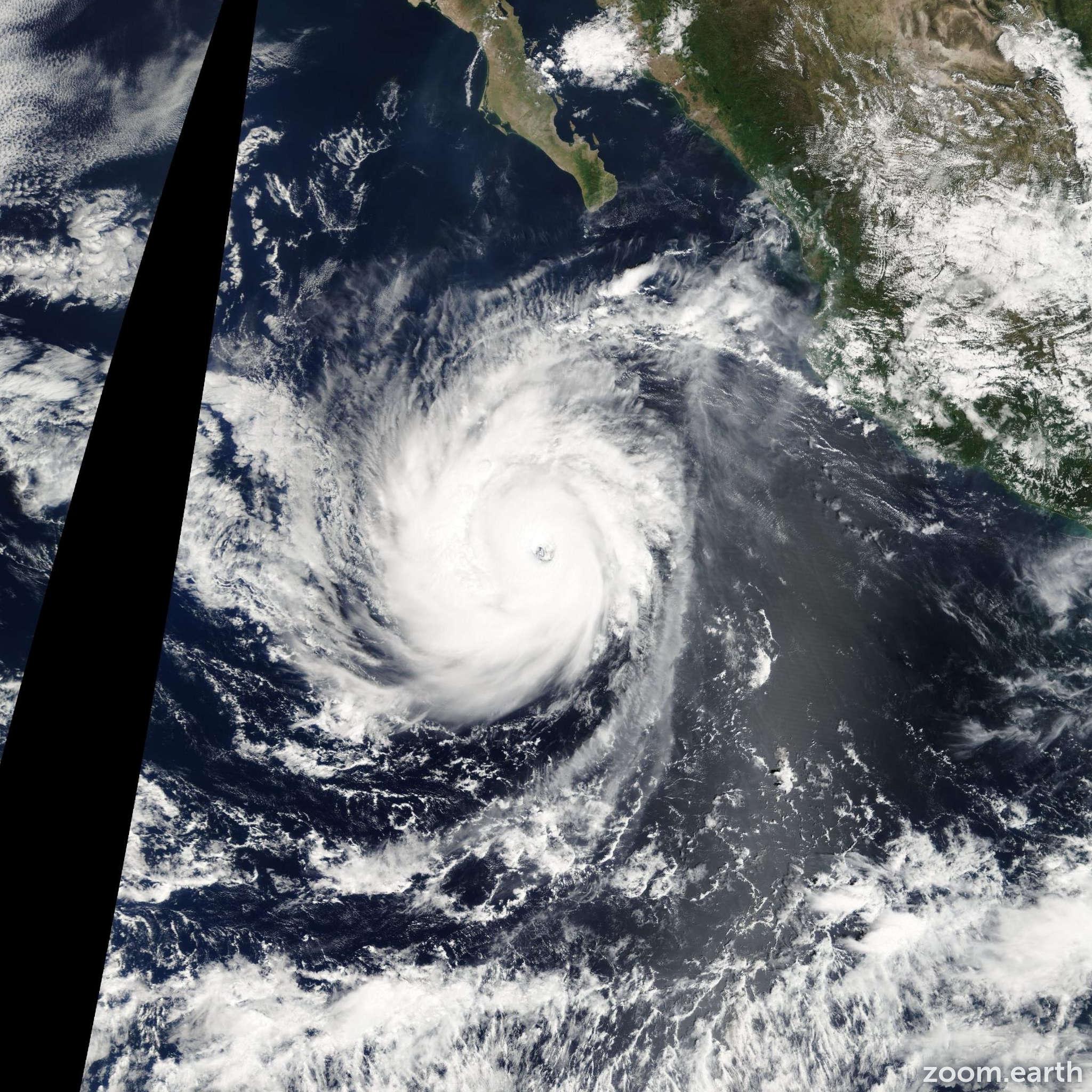 Satellite image of Hurricane Norbert 2008