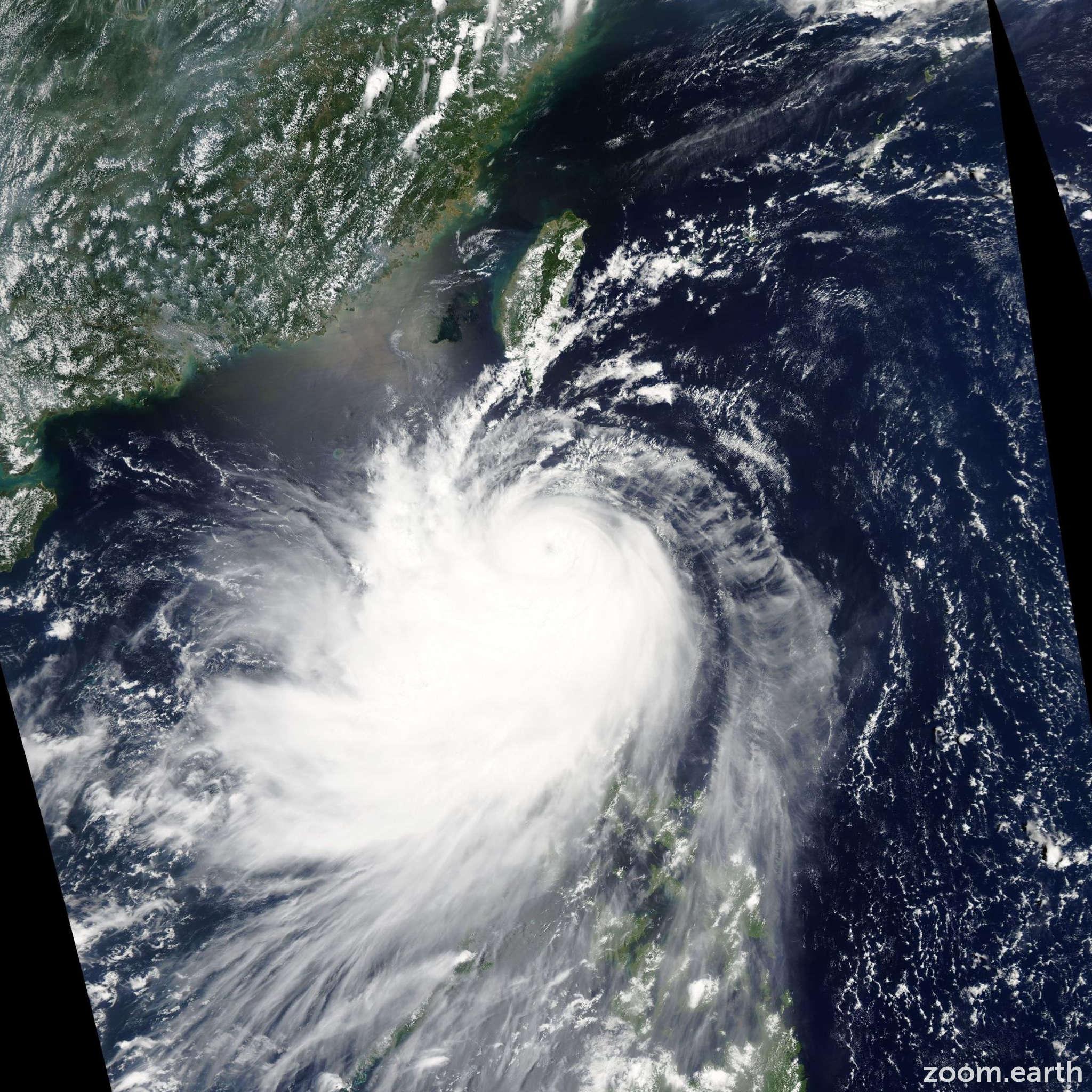 Satellite image of Typhoon Nuri 2008