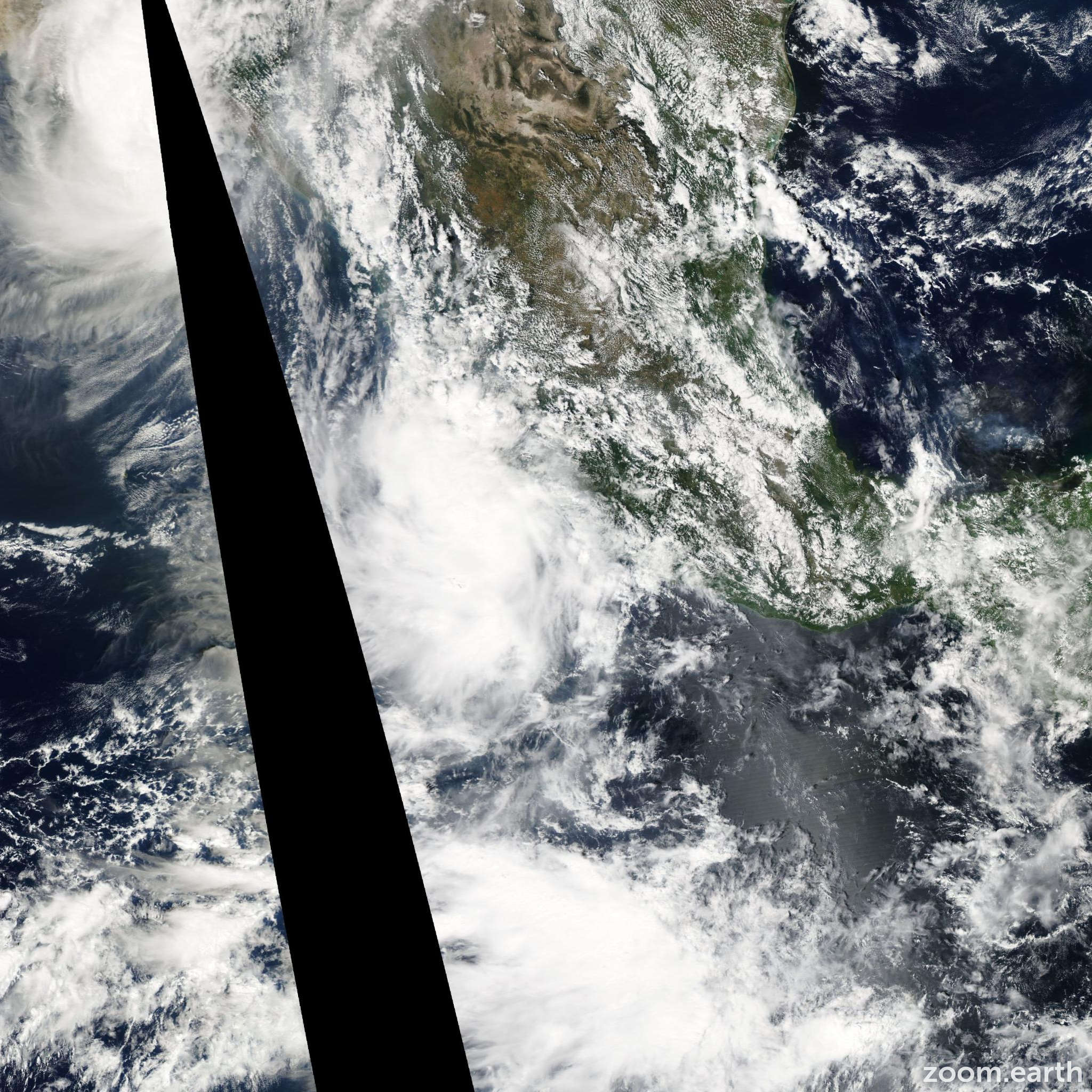 Satellite image of Storm Odile 2008