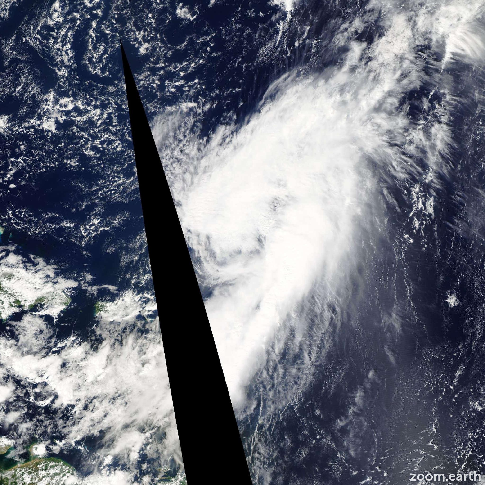 Satellite image of Hurricane Omar 2008