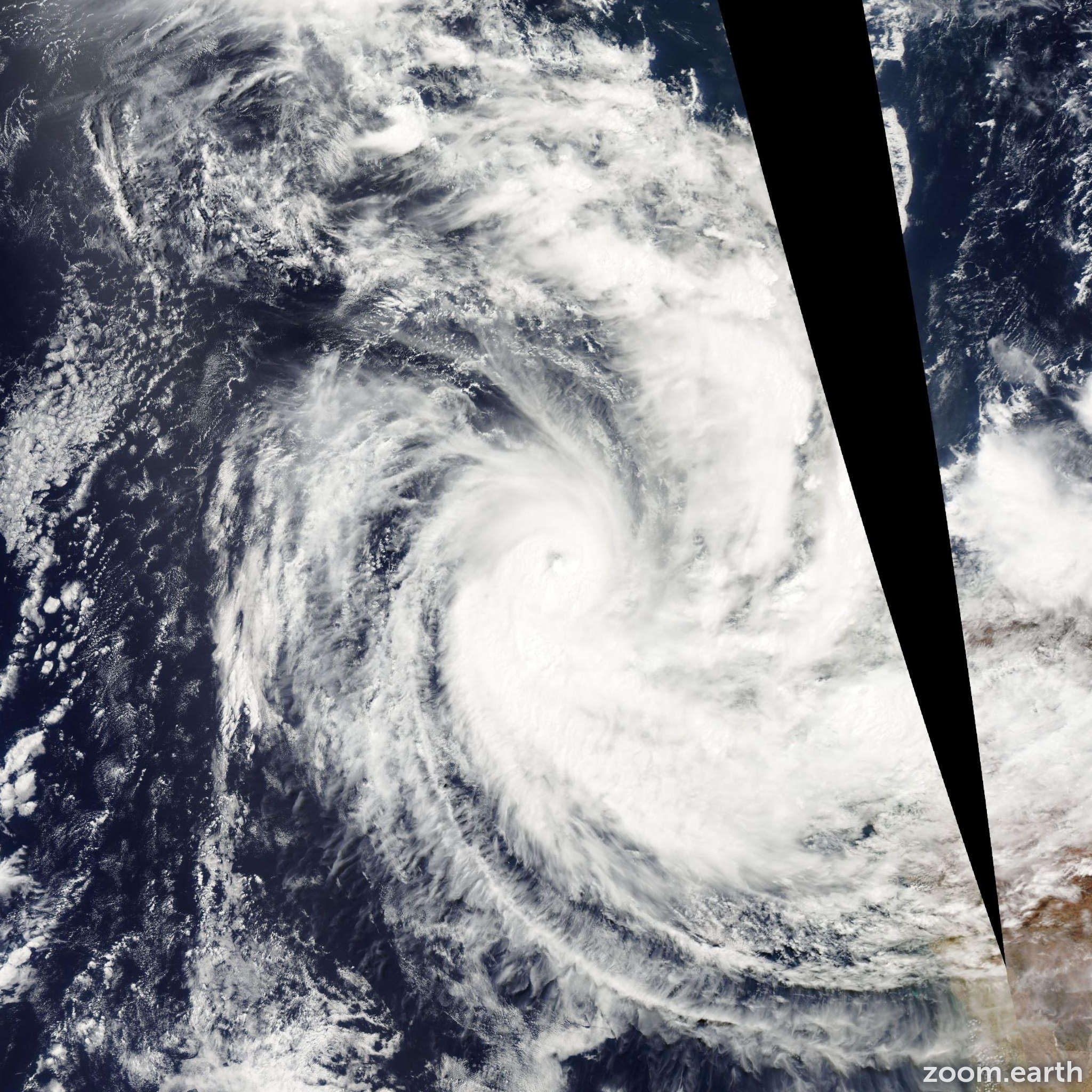 Satellite image of Cyclone Pancho 2008