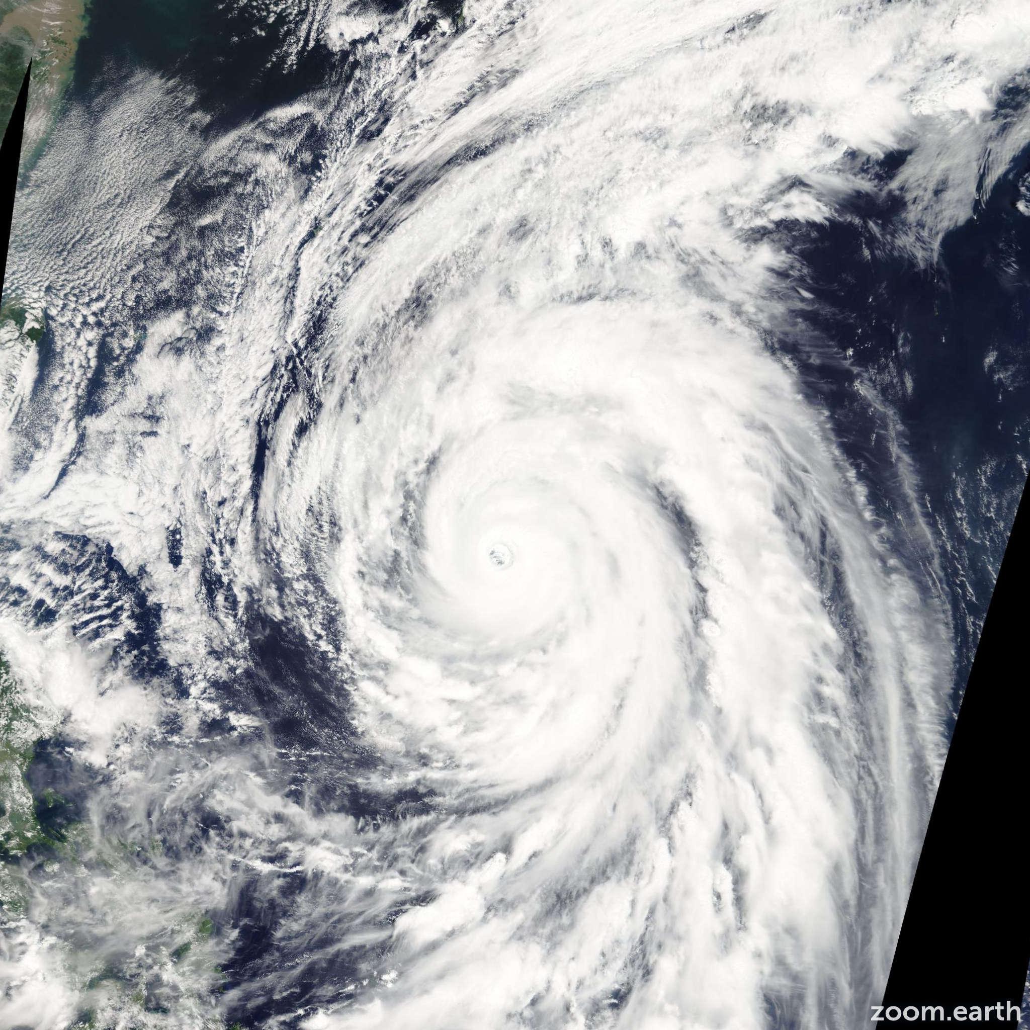 Satellite image of Typhoon Rammasun 2008
