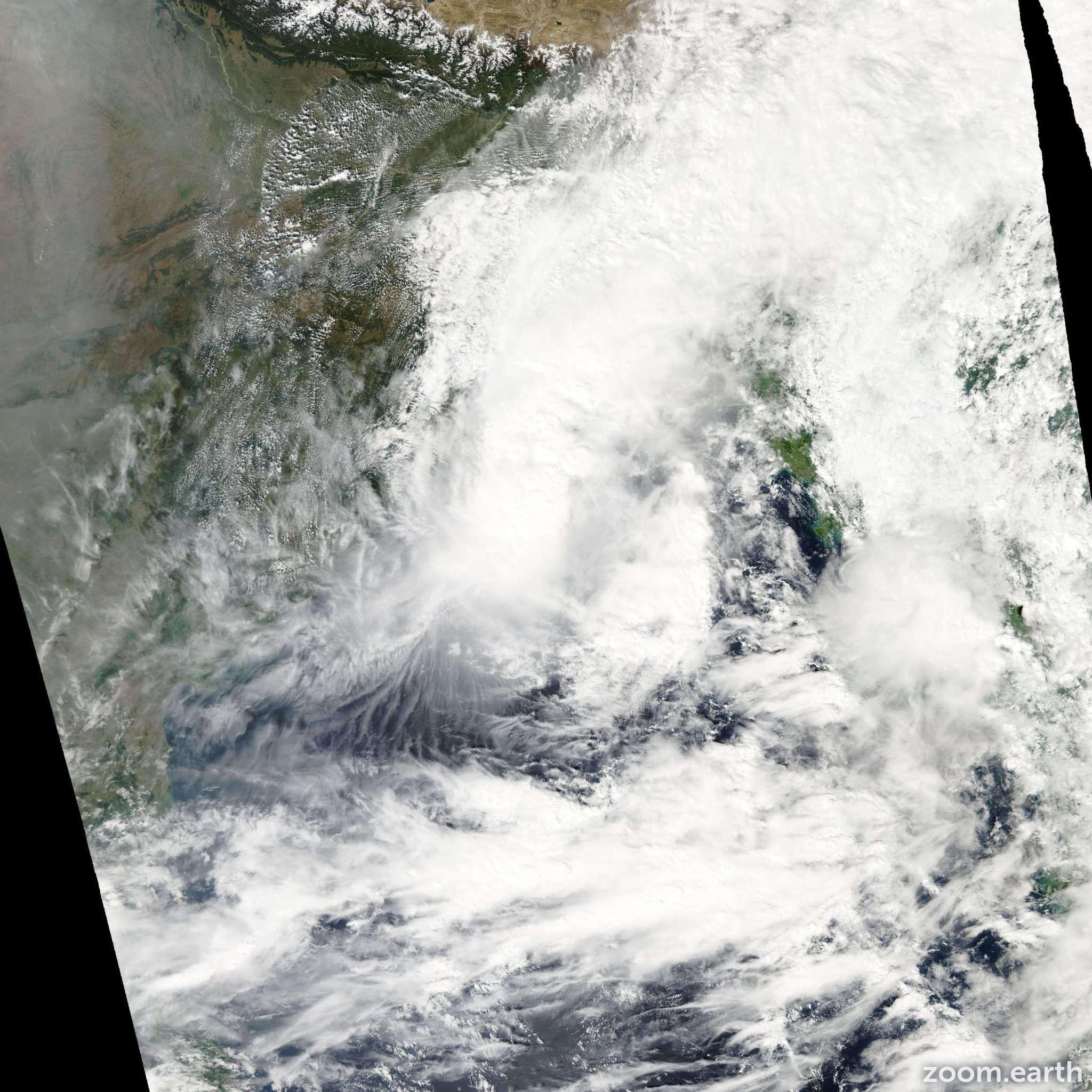 Satellite image of Cyclone Rashmi 2008