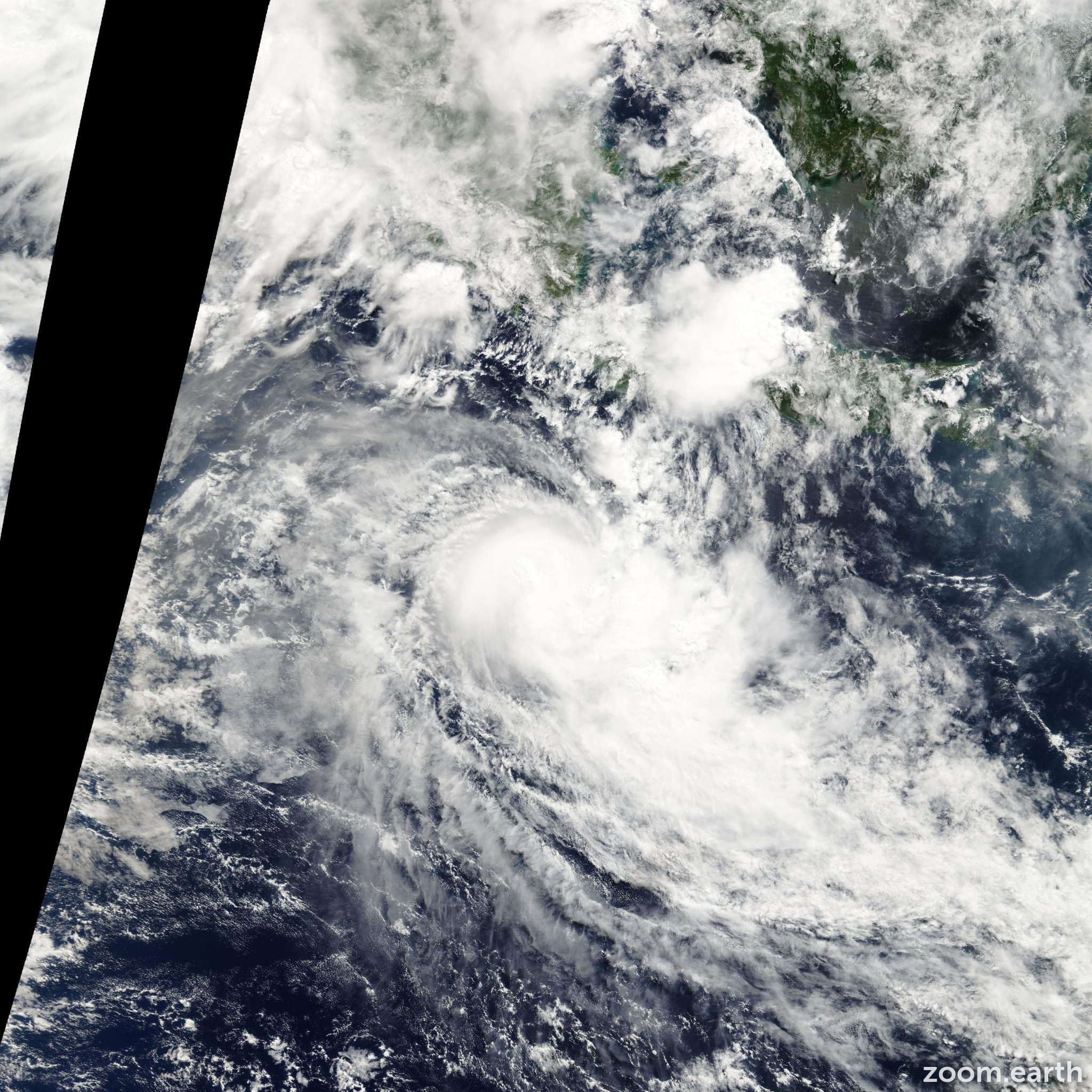 Satellite image of Cyclone Rosie 2008