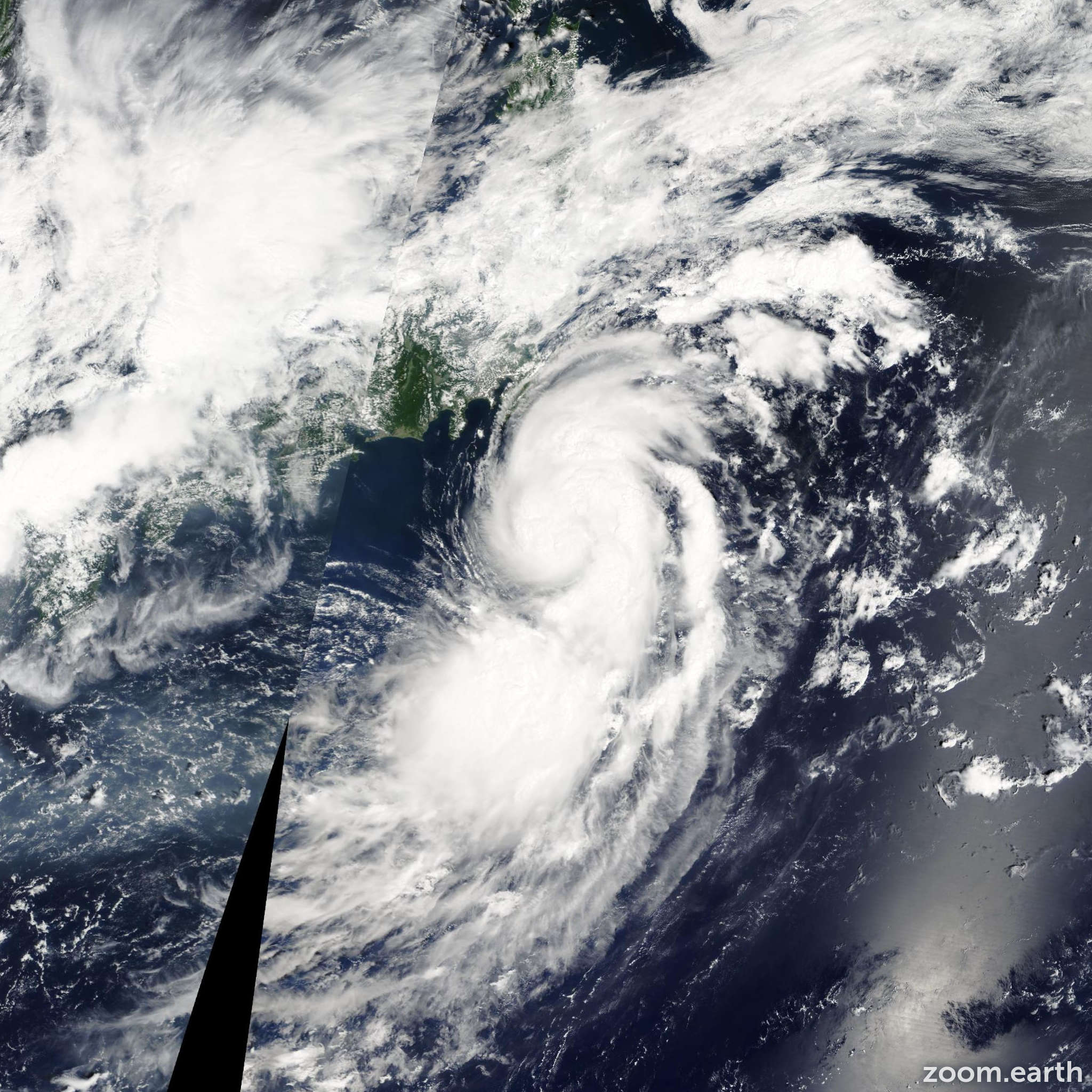 Satellite image of Storm Vongfong 2008